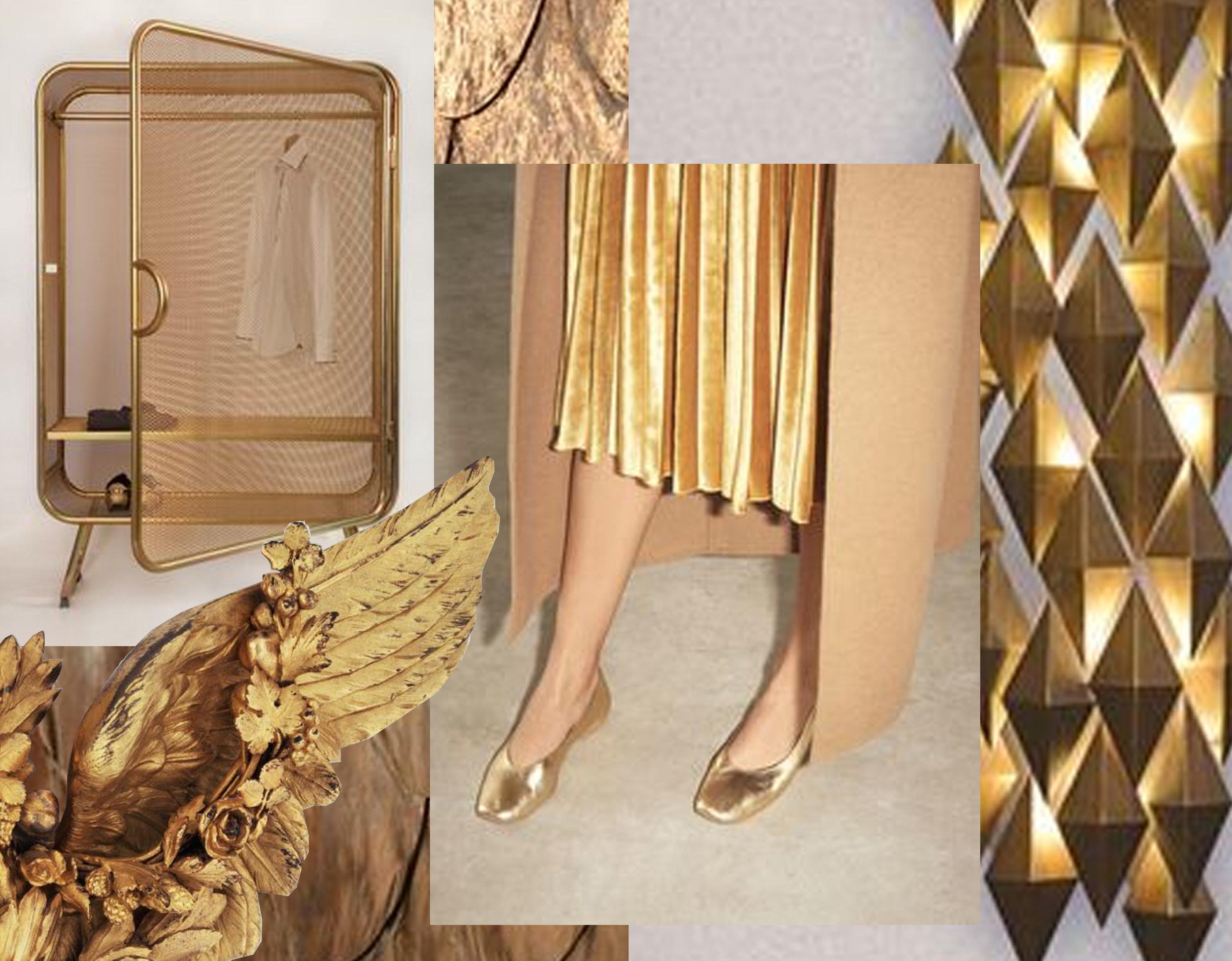 closet via  Eget Rom  - angel wing  Pinterest  - draped outfit  Pinterest  - Daria scone  Lusive