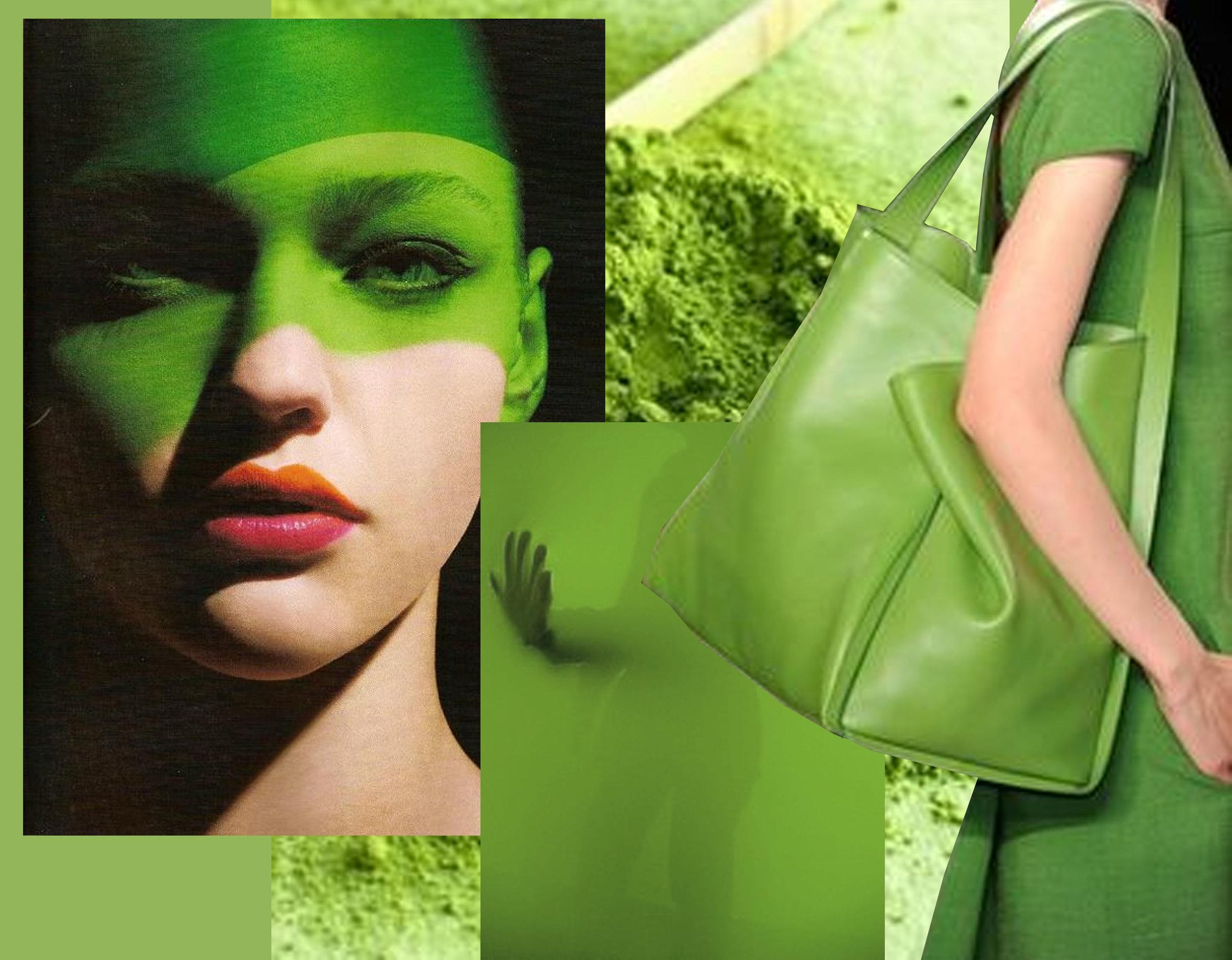 beauty image via  Pinterest  - photography green via  Flickr  - green in fashion  Elle