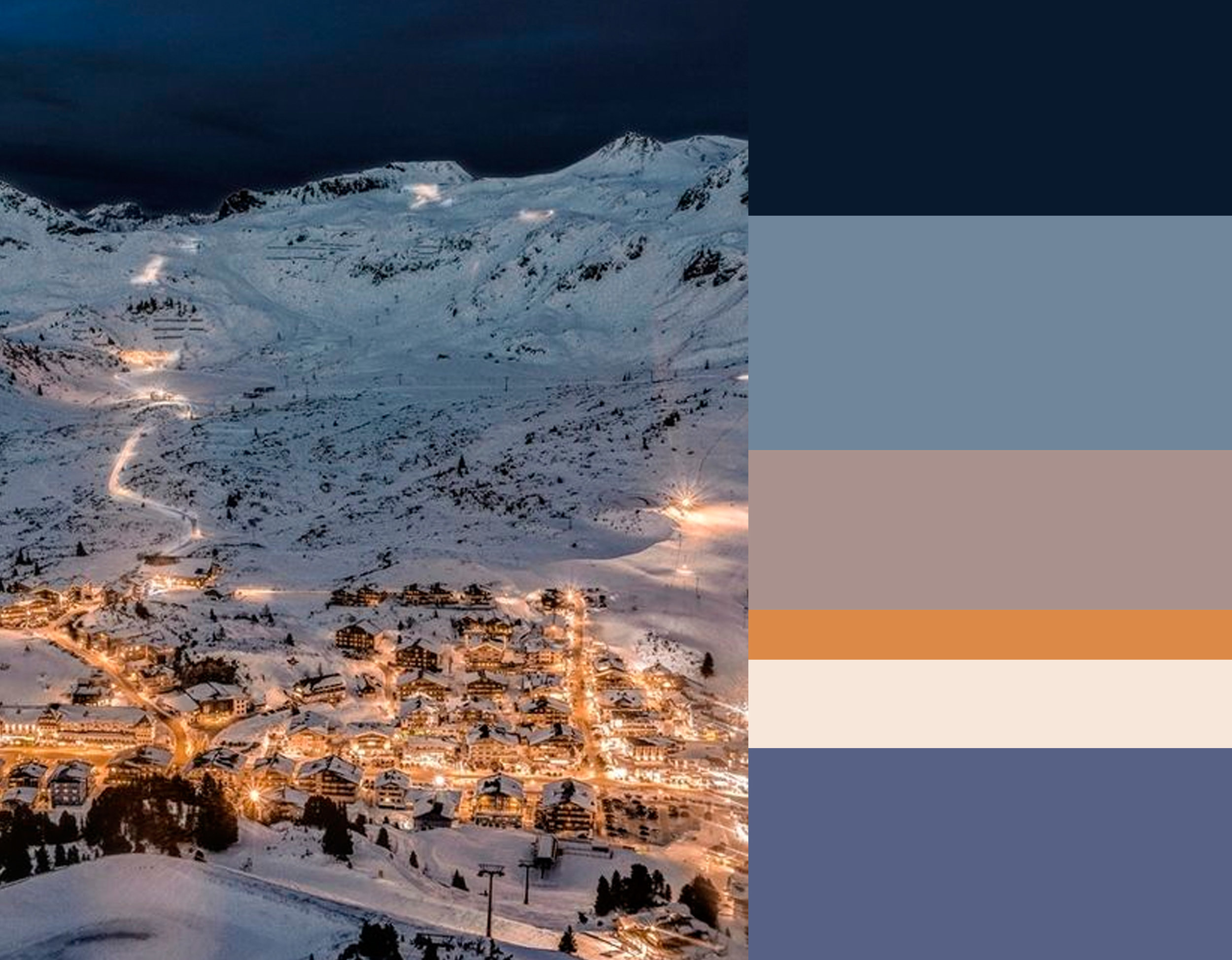 image Austria via   Architecture and Design  - colors from top down Old Navy  Benjamin Moore  - Denim Wash  Benjamin Moore  - Faded Rose  Zoffany  - Amber  Zoffany  - Pointing 2003  Farrow & Ball  - French Violet  Benjamin Moore
