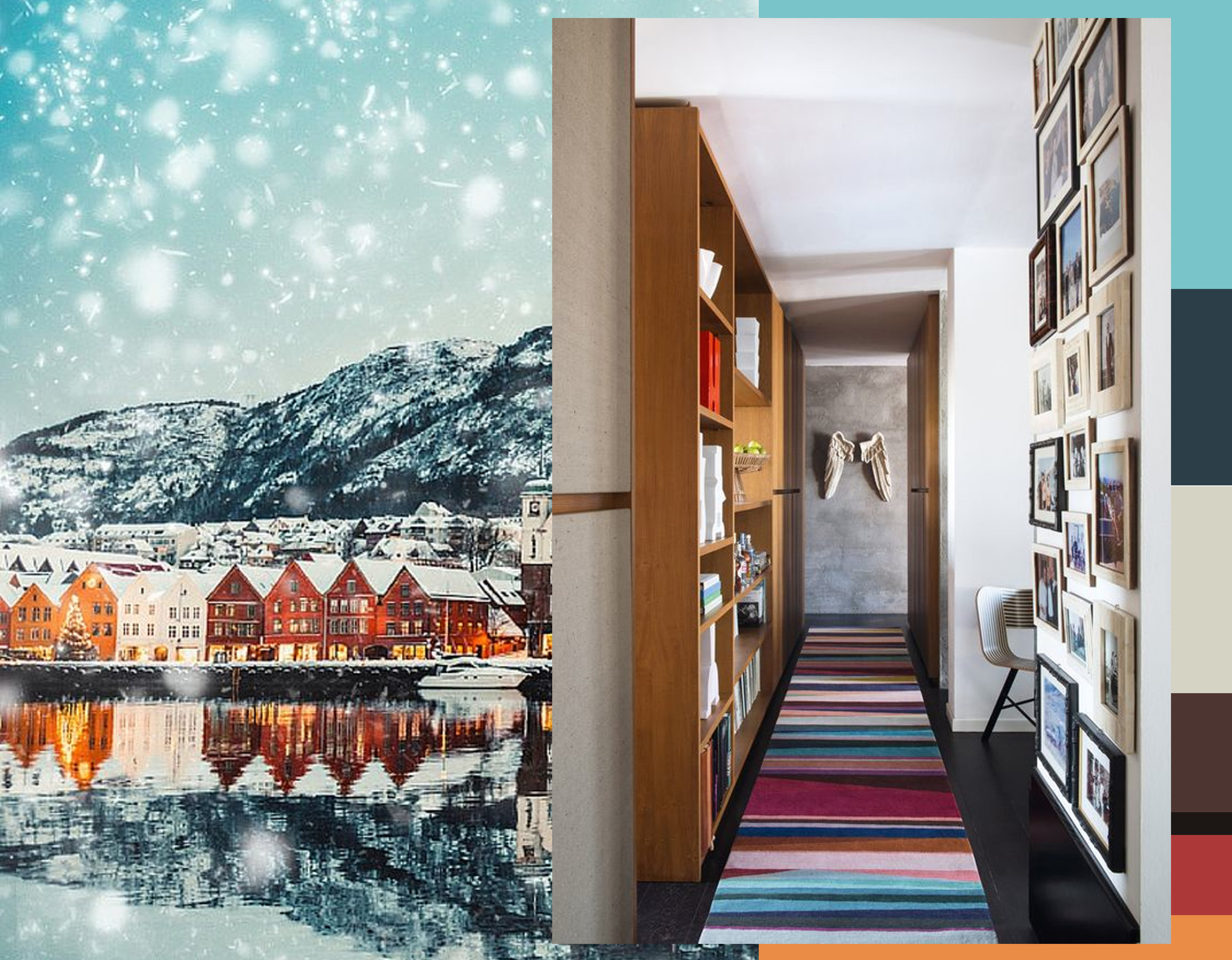 Image Bergen, Norway via Avenly Lane Travel - runner  The Rug Company