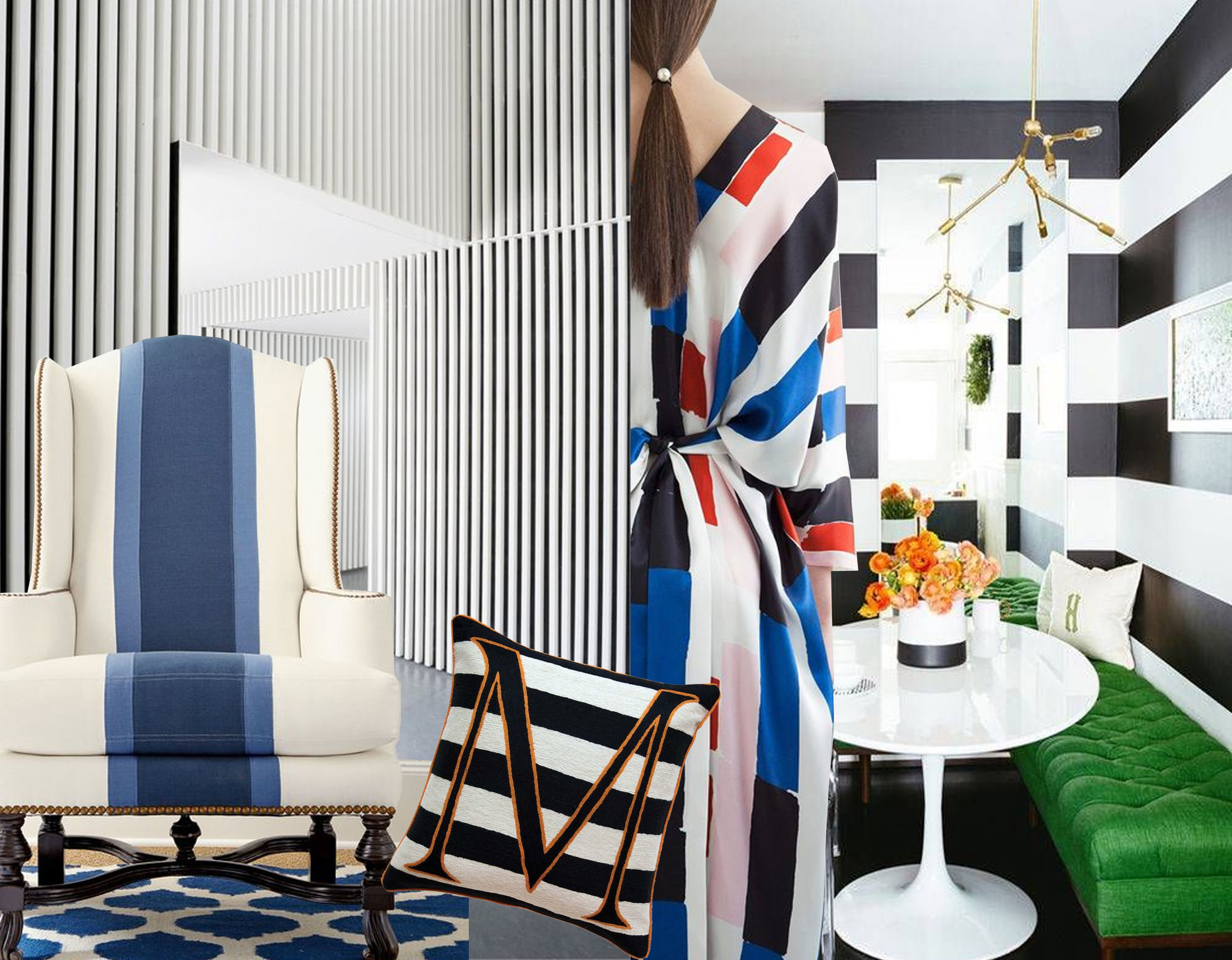 Ferreries cultural center via  ArchDaily  - wing chair  Horchow  - Alphabet M cushion  The Rugcompany  - Osman resort 2017 via  Vogue  - breakfst room via  Domino