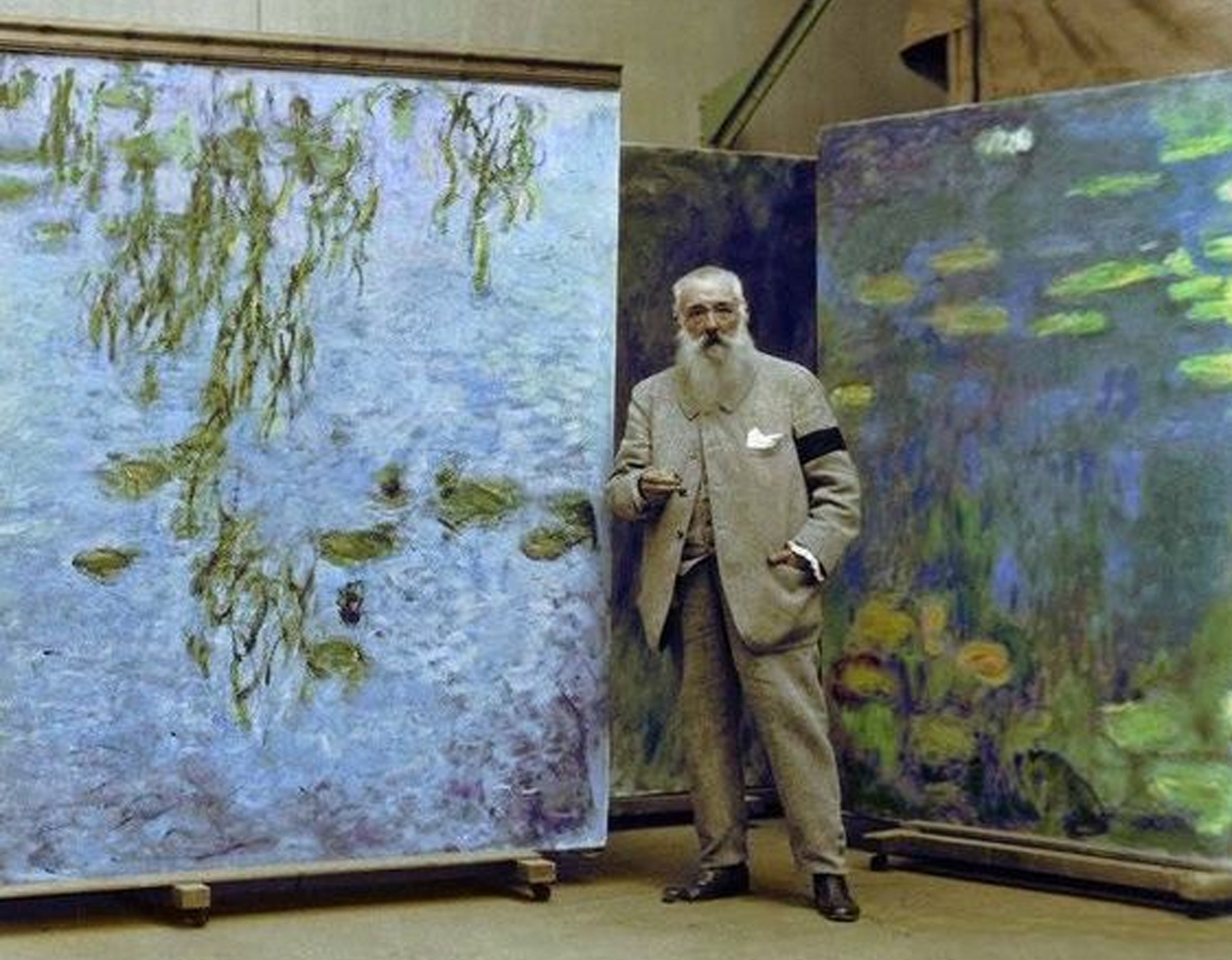 Monet  in his studio