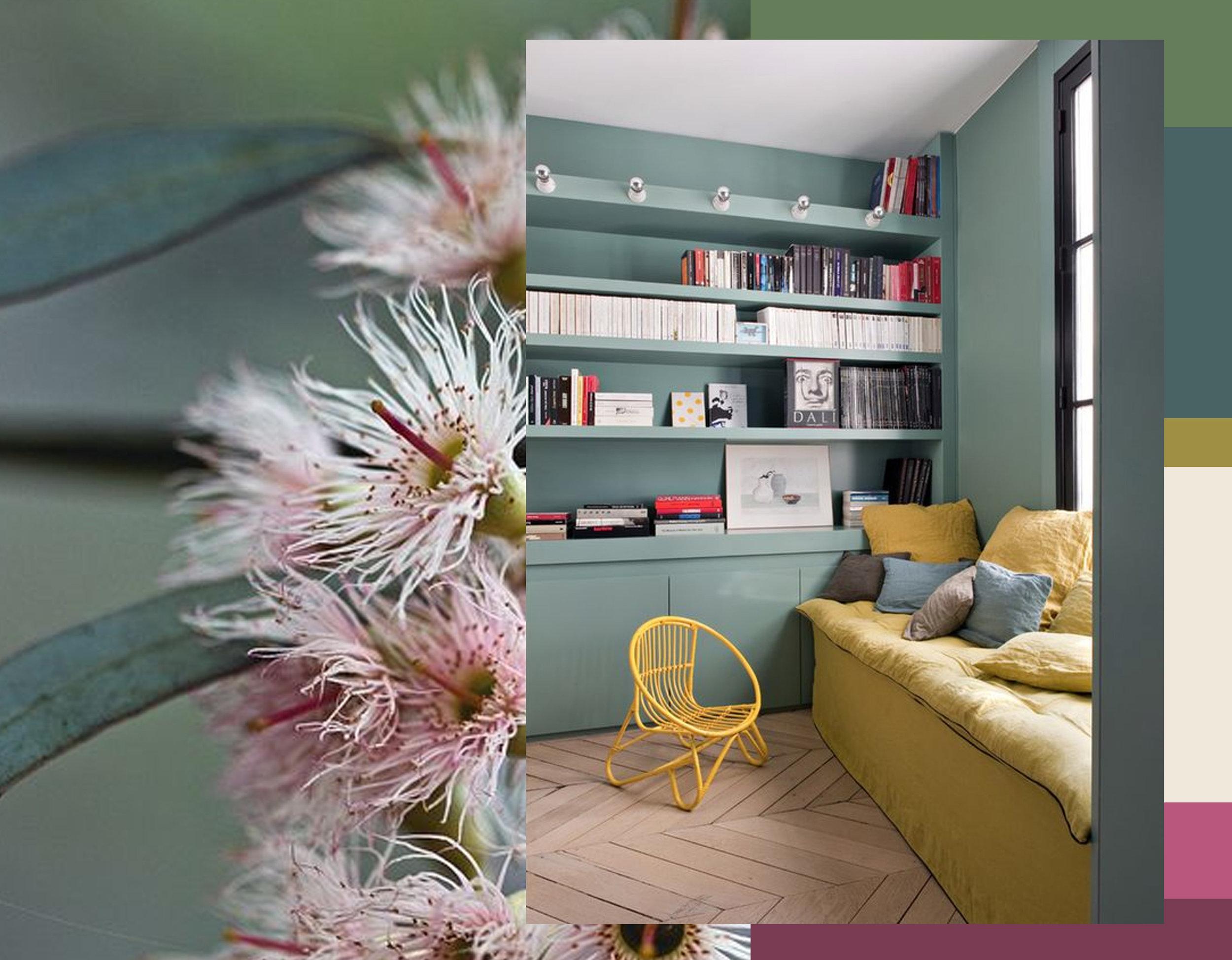 flower image via  Pinterest - interior via  My Deco Lab