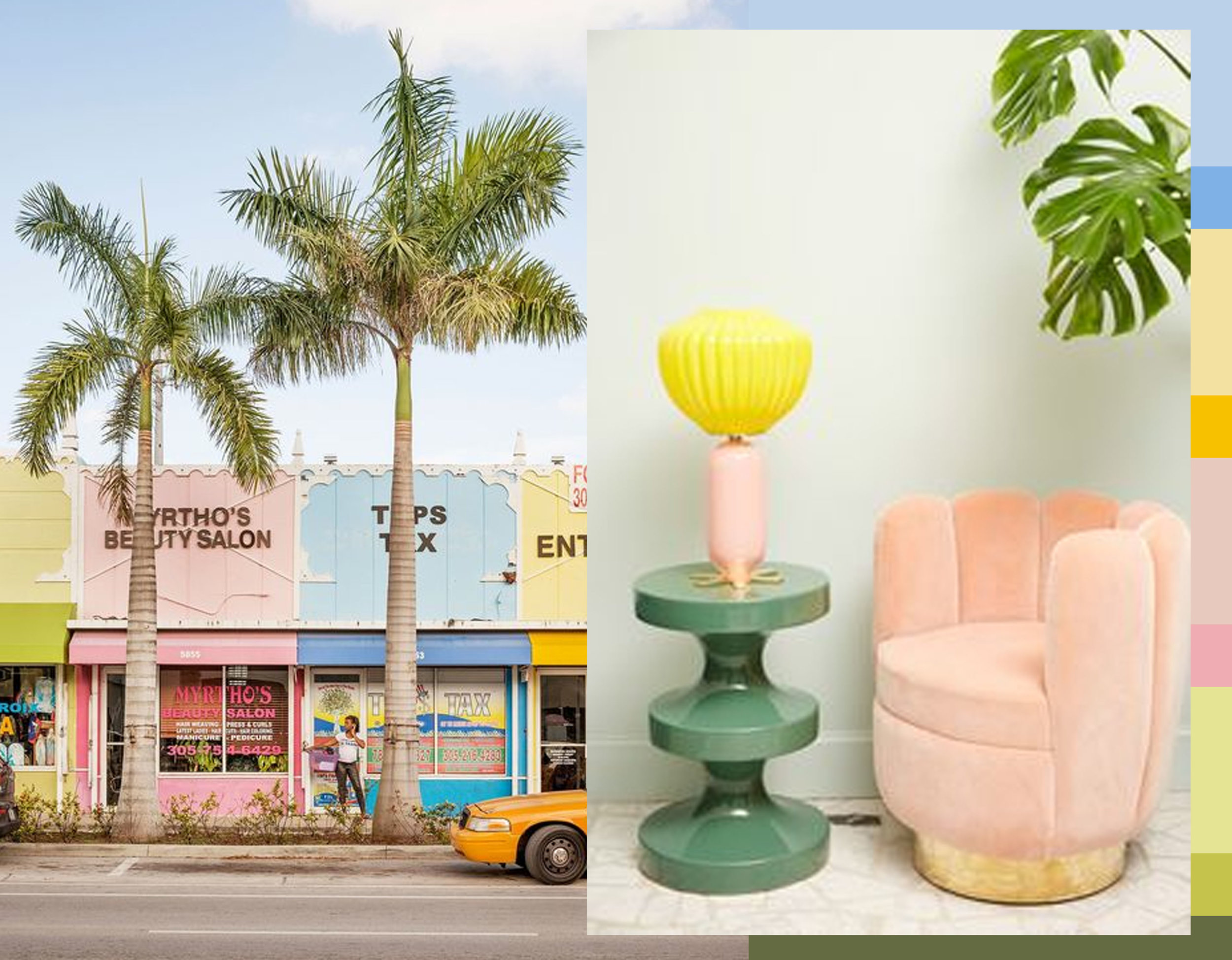 image Miami via  Vogue  - interior desgin image via  Corriere della sera