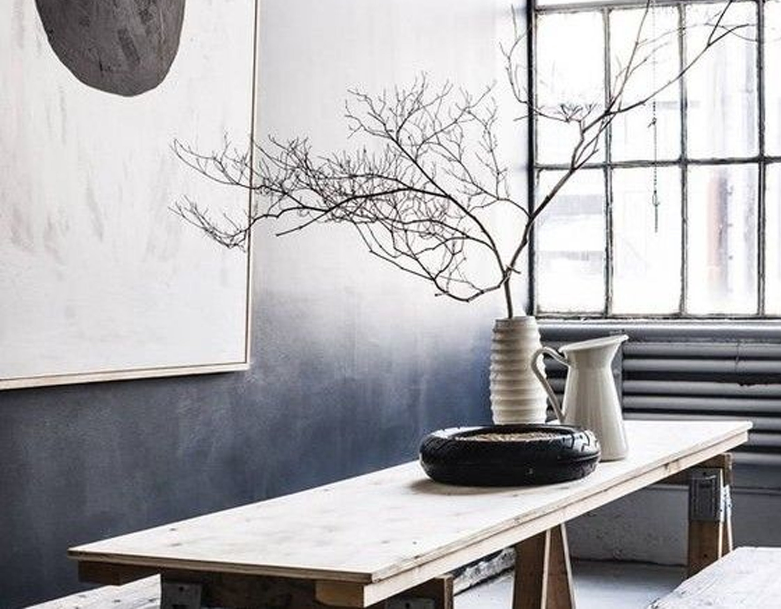 Ombre wall via  Red Magazine