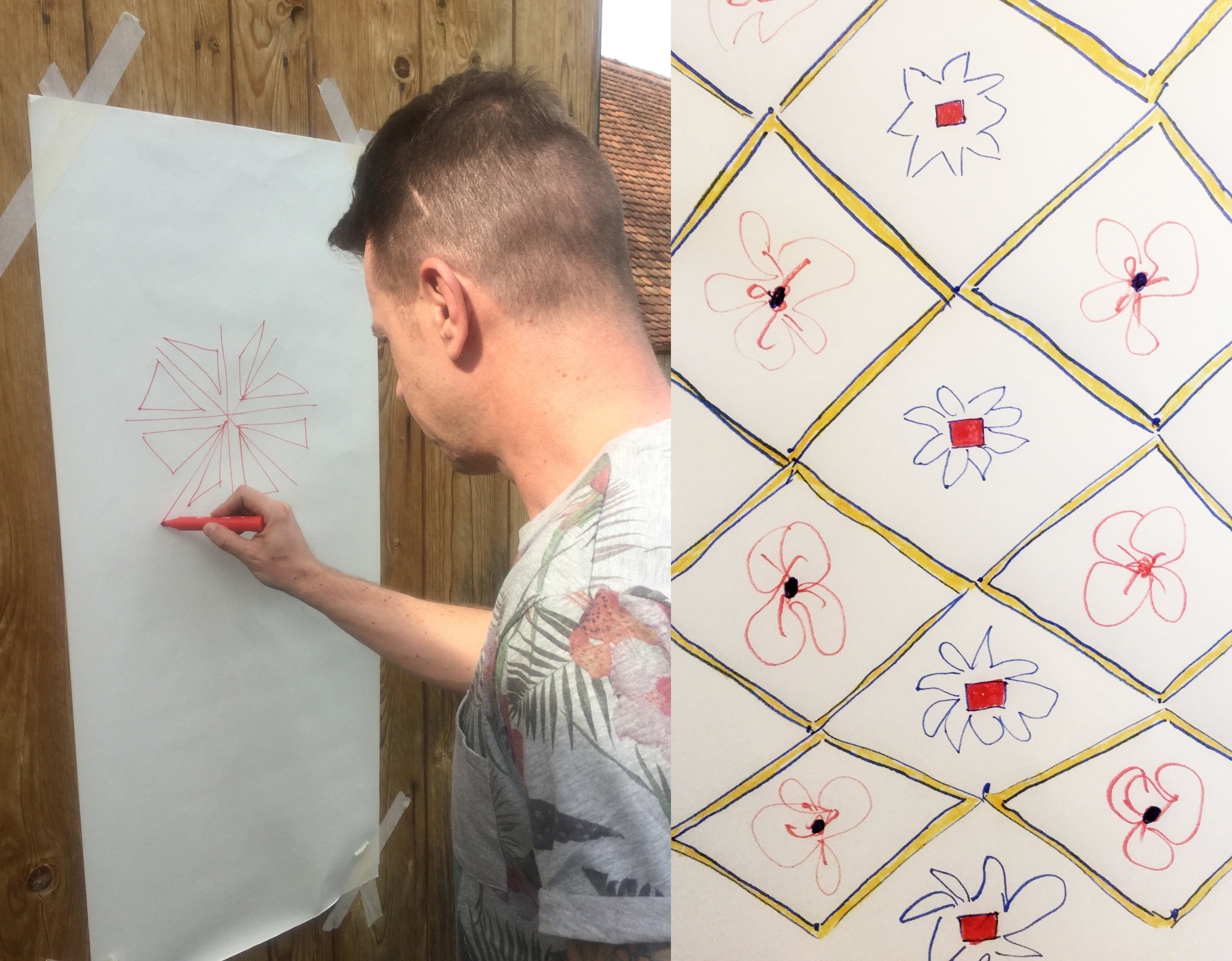 drawing your own wallpaper