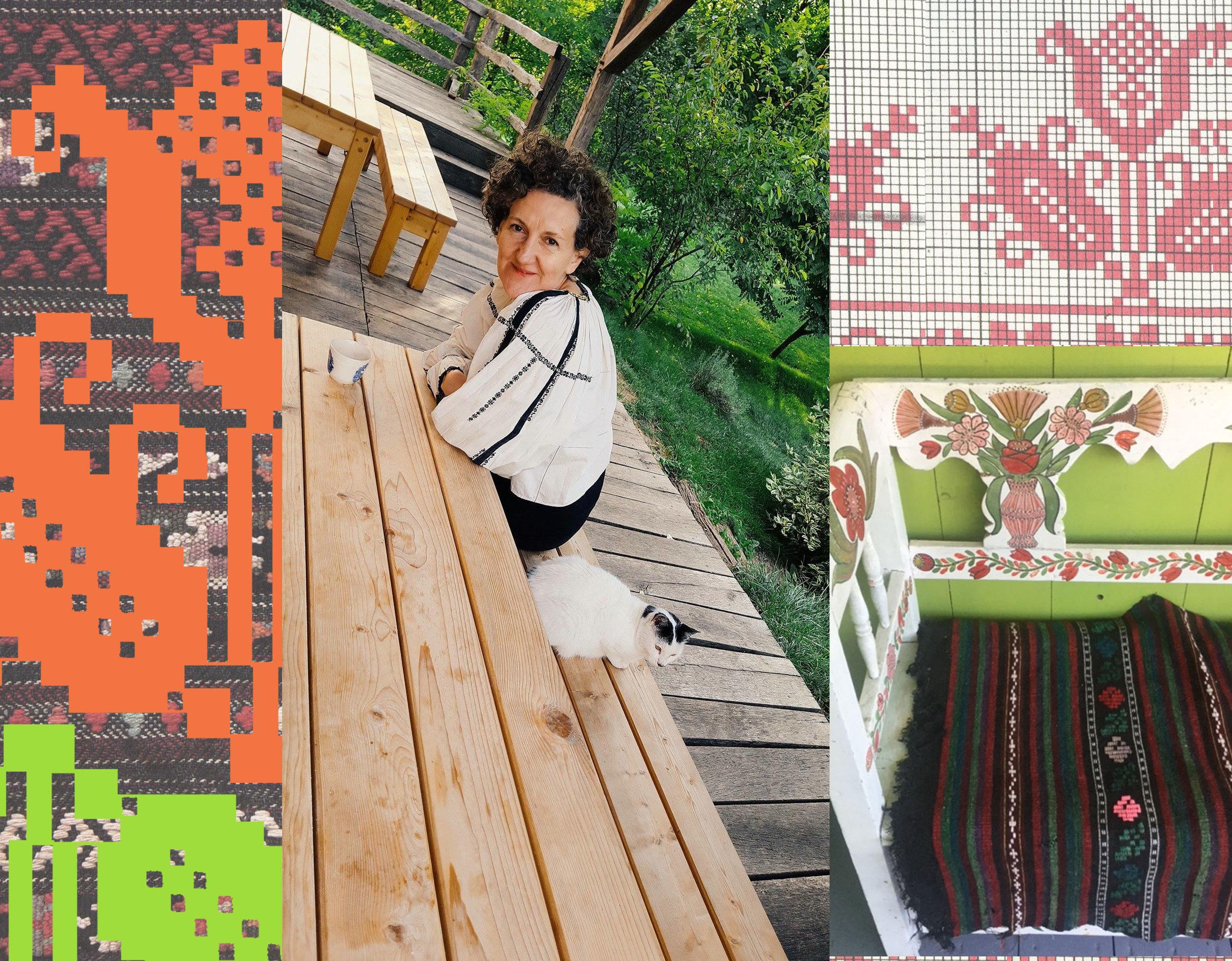 Viscri is one of my preferred places in Transylvania - traditional Romanian patterns  Muzeul Taranului Roman - painted furniture casa cu cerbi