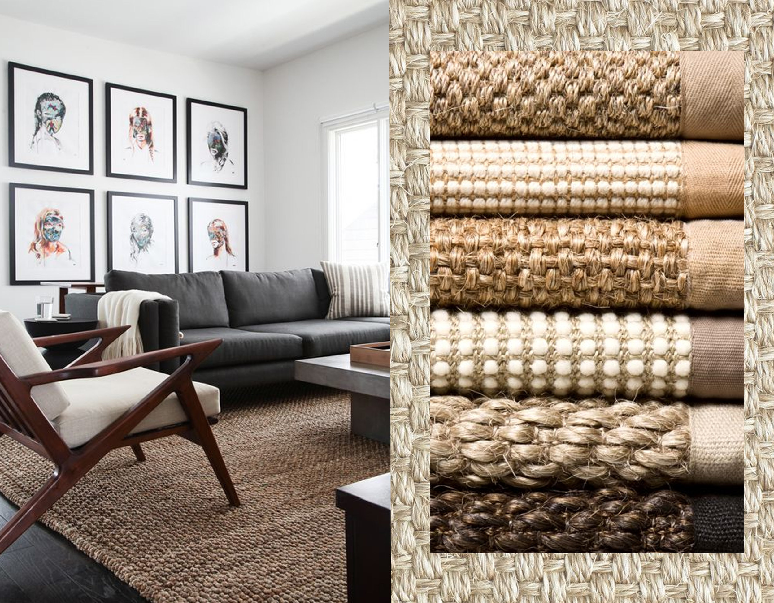 image living via  Cote de Texas  - natural fiber rugs  Bellacor