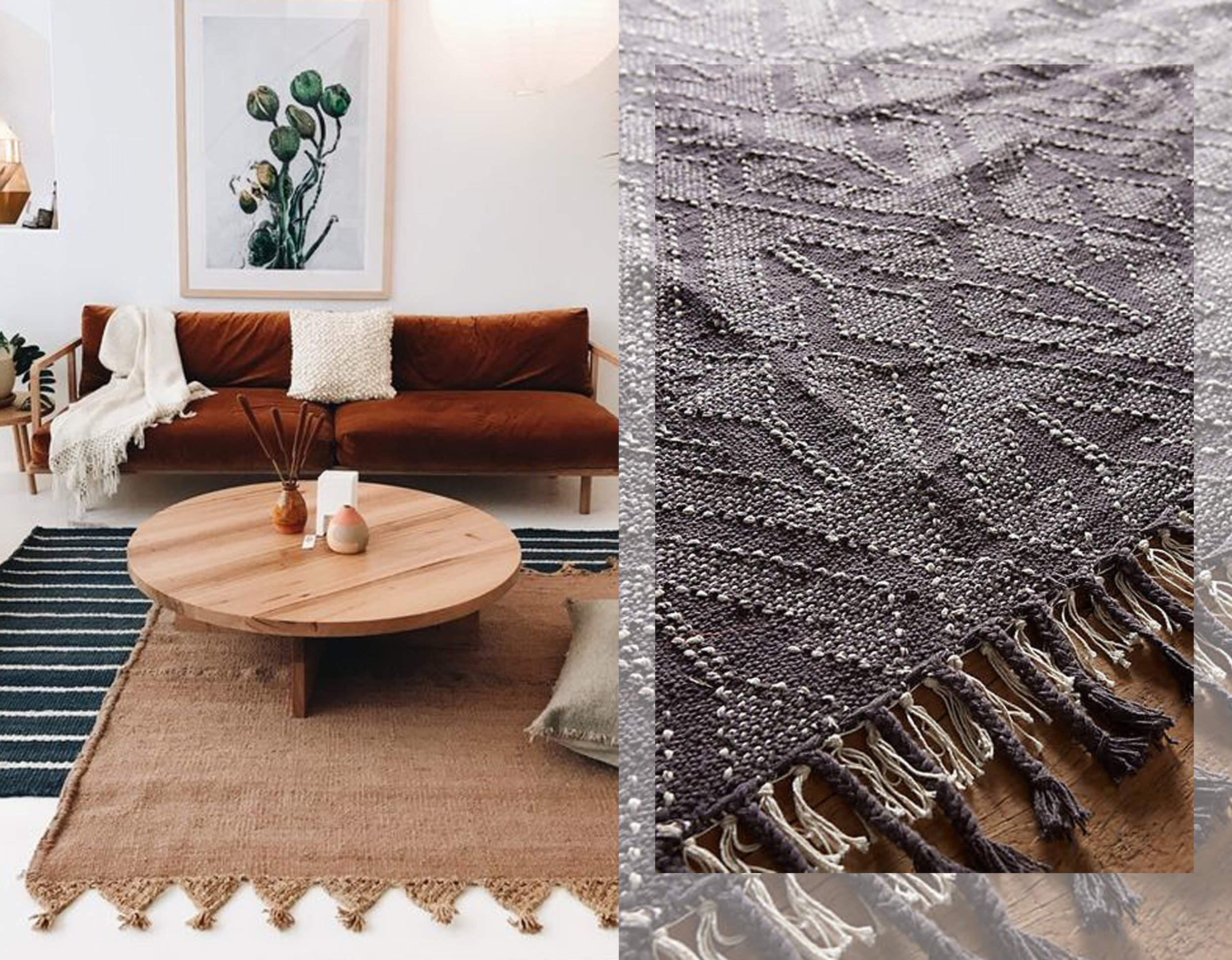 image living room  Pampa  - flat woven rug  Anthropologie