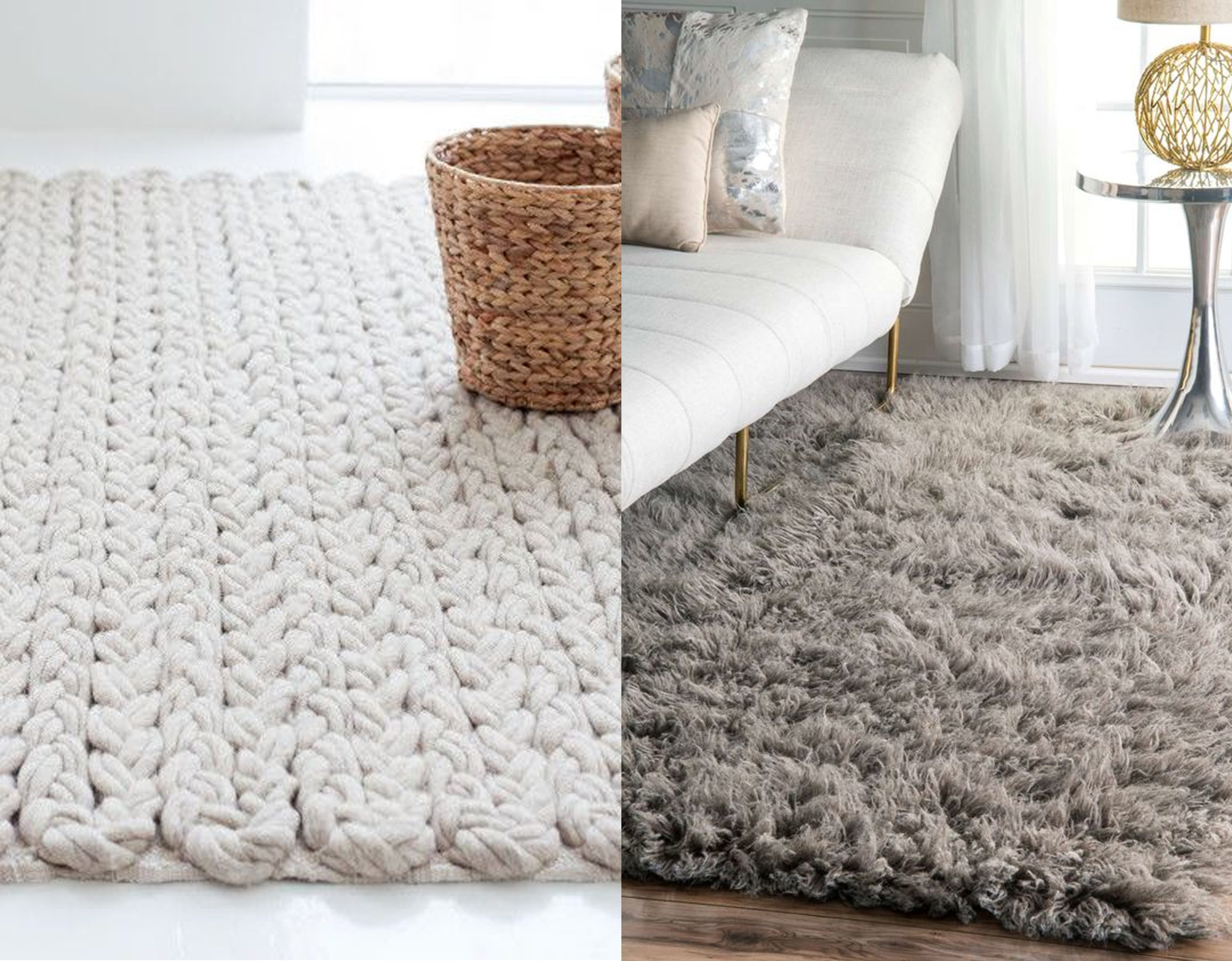 heavy textured rug Trenzas  GAN  - fluffy rug  Rugs USA