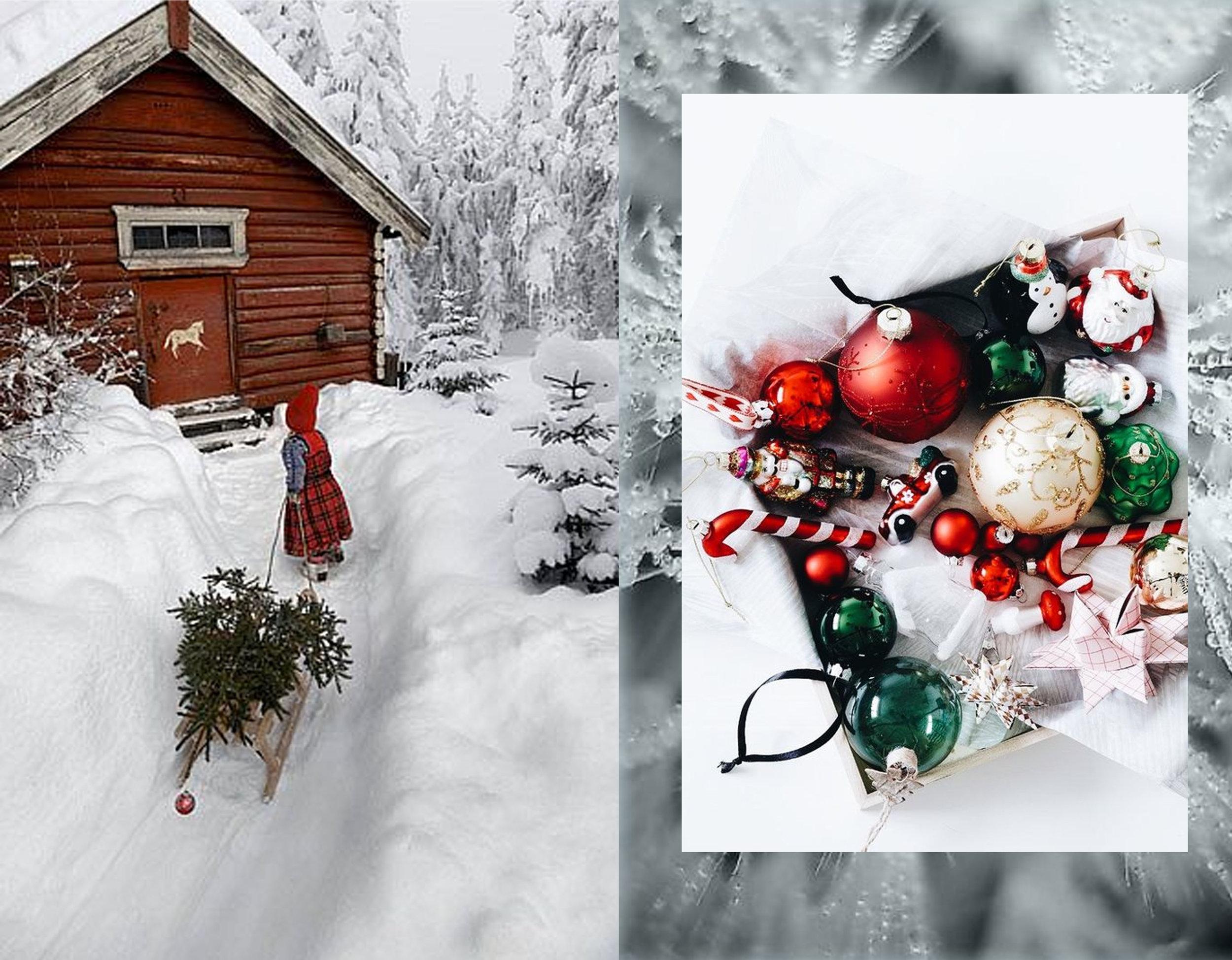 Christmas house  Per Breiehagen  - Christmas tree decoration via  Pinterest