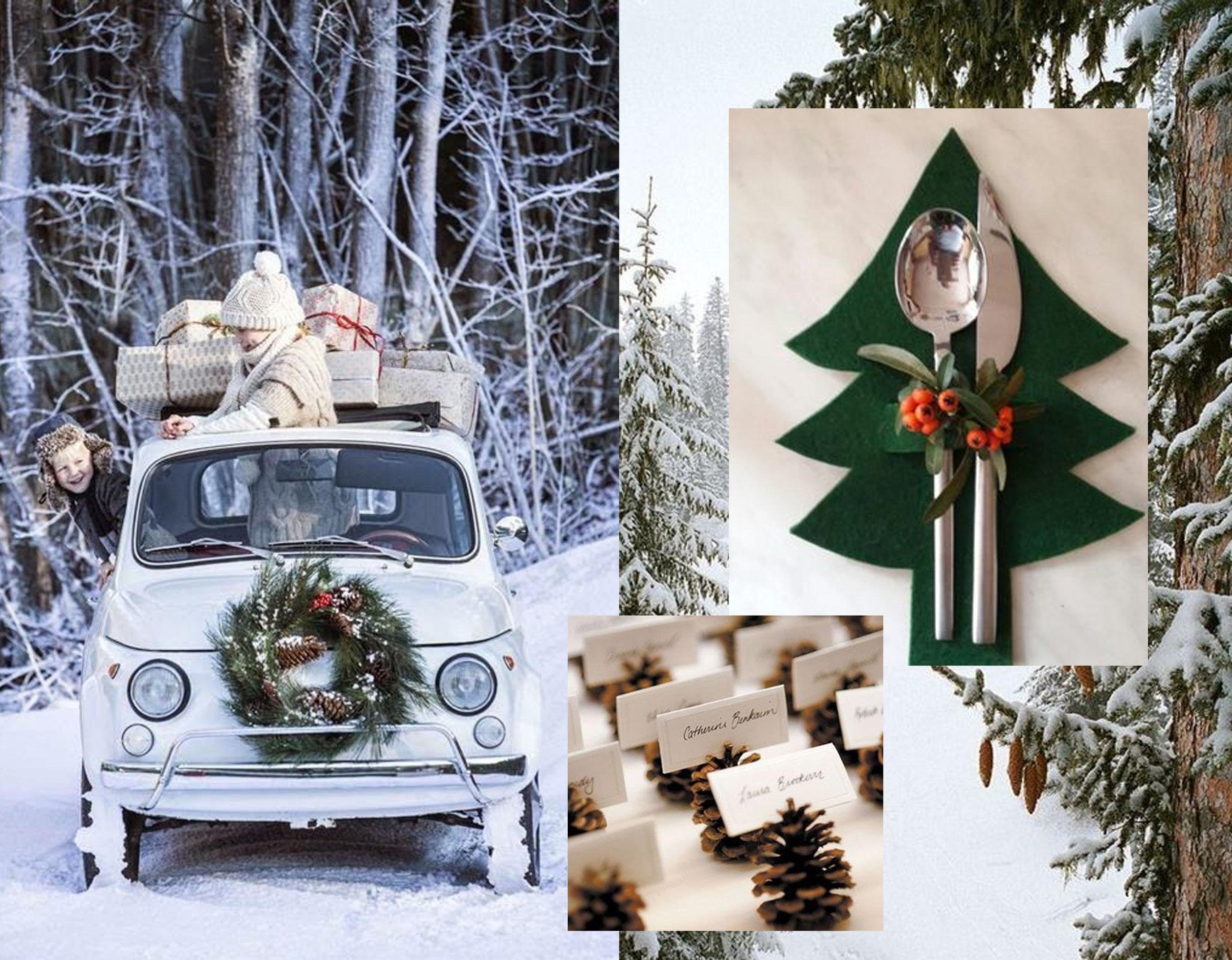 arriving with gifts via  Little Scandinavian - felted cutlery holder via Pinterest   - place sings via  Belgian Pearls