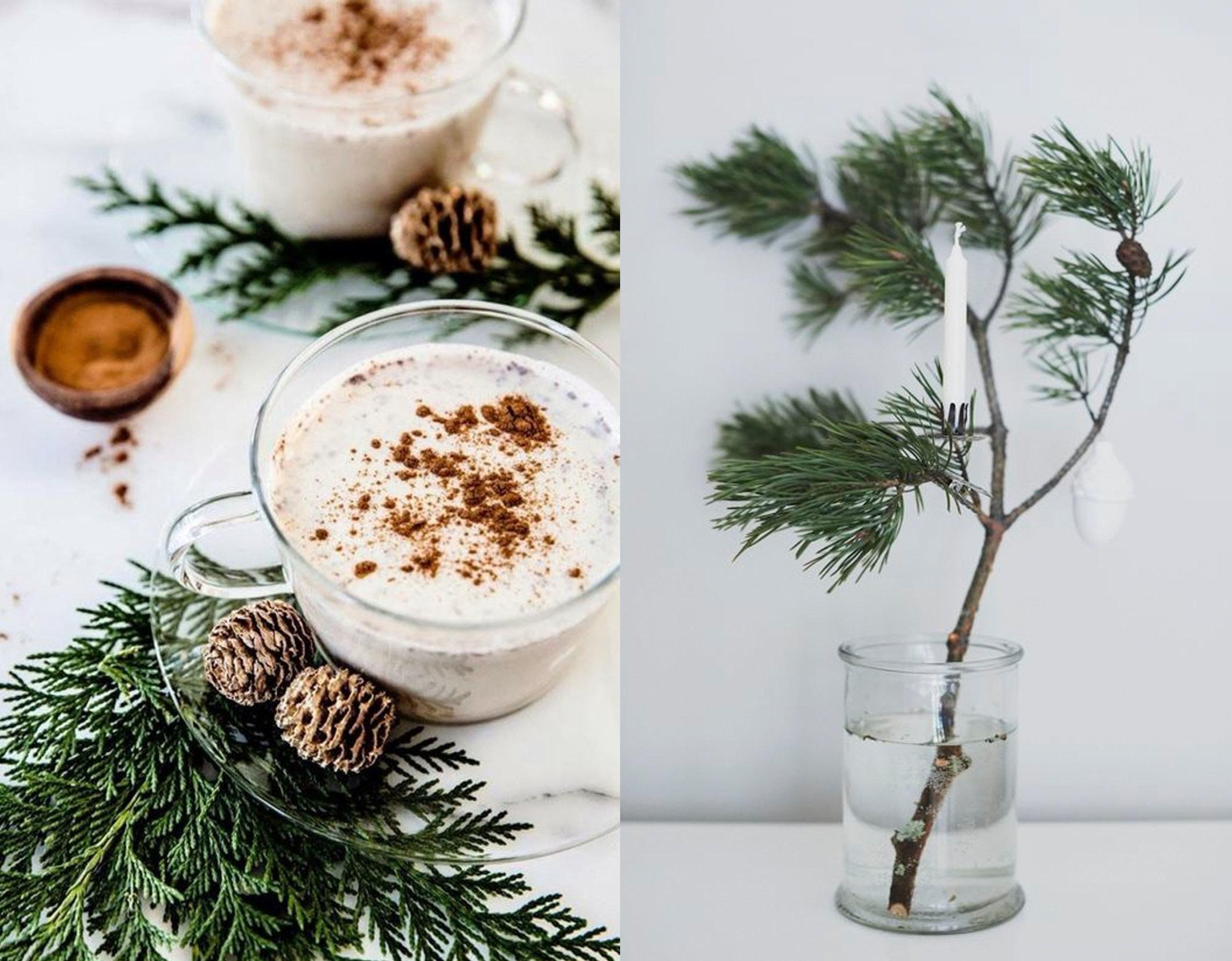 cup of hot chocolat via Pinterest  - branch via  Pinterest