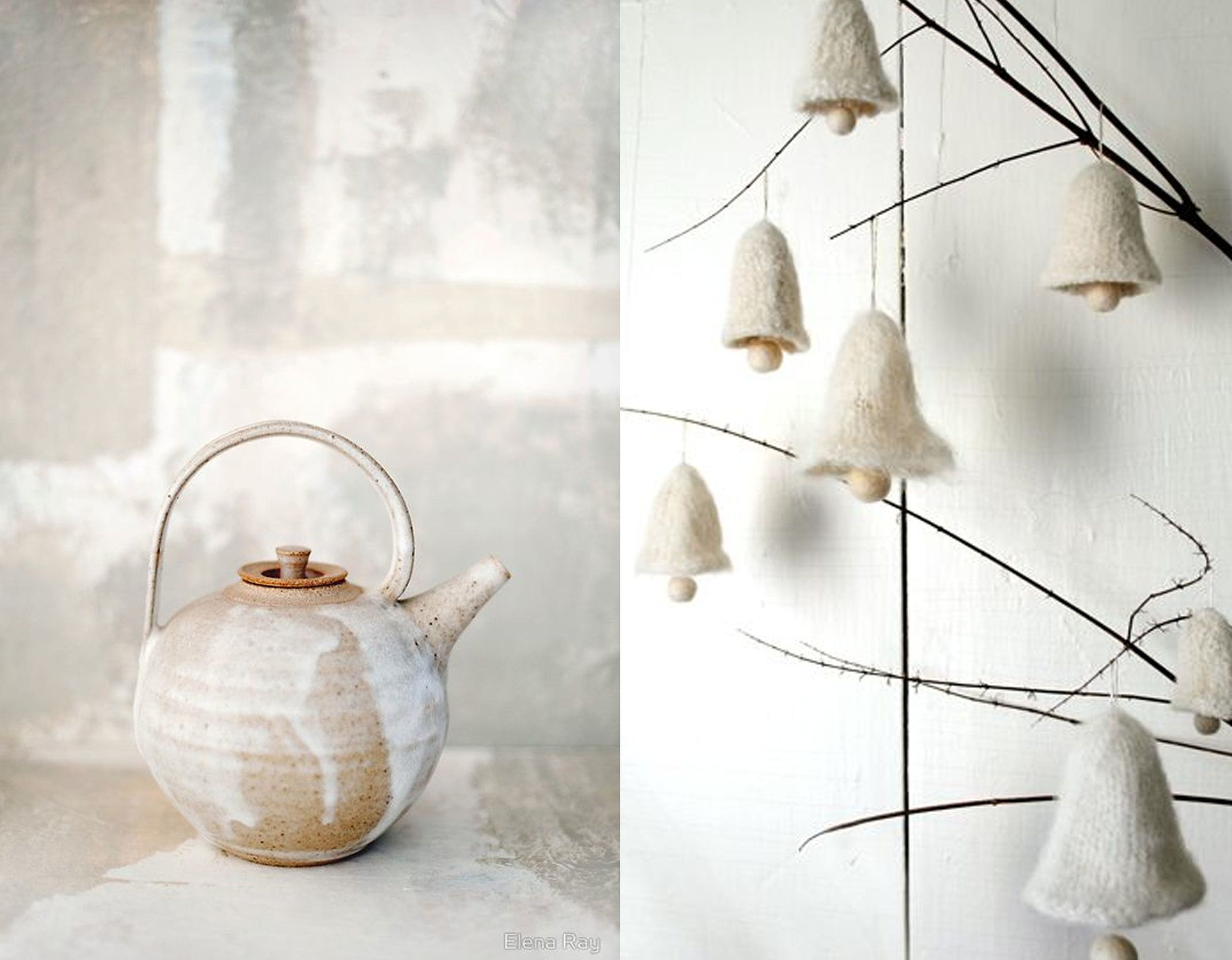 teapot  Redbubble  - felted bell ornaments with instructions how to make them  Purl Soho