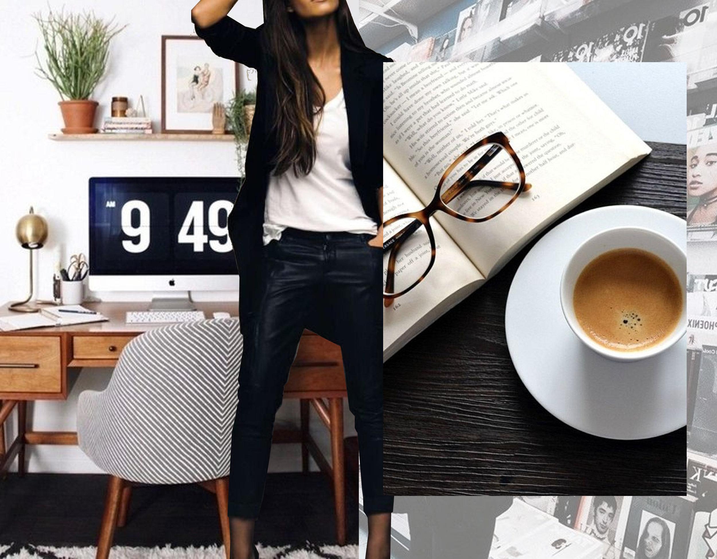 home desk via  Instagram  - fashion image via  Redefine Style -  Nespresso coffee