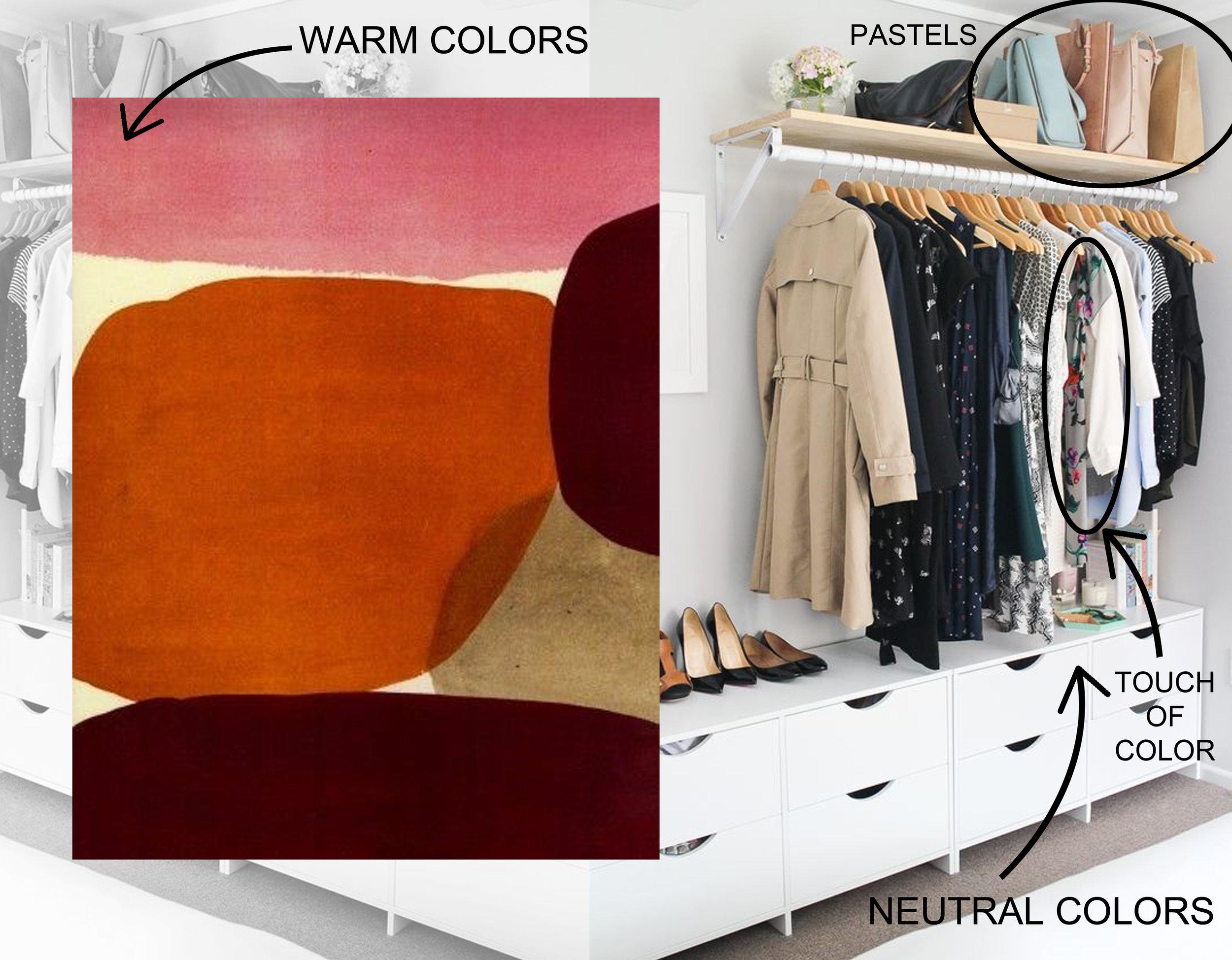 artwork  Luli Sanchez  - dressing image via  Master Bedroom Ideas
