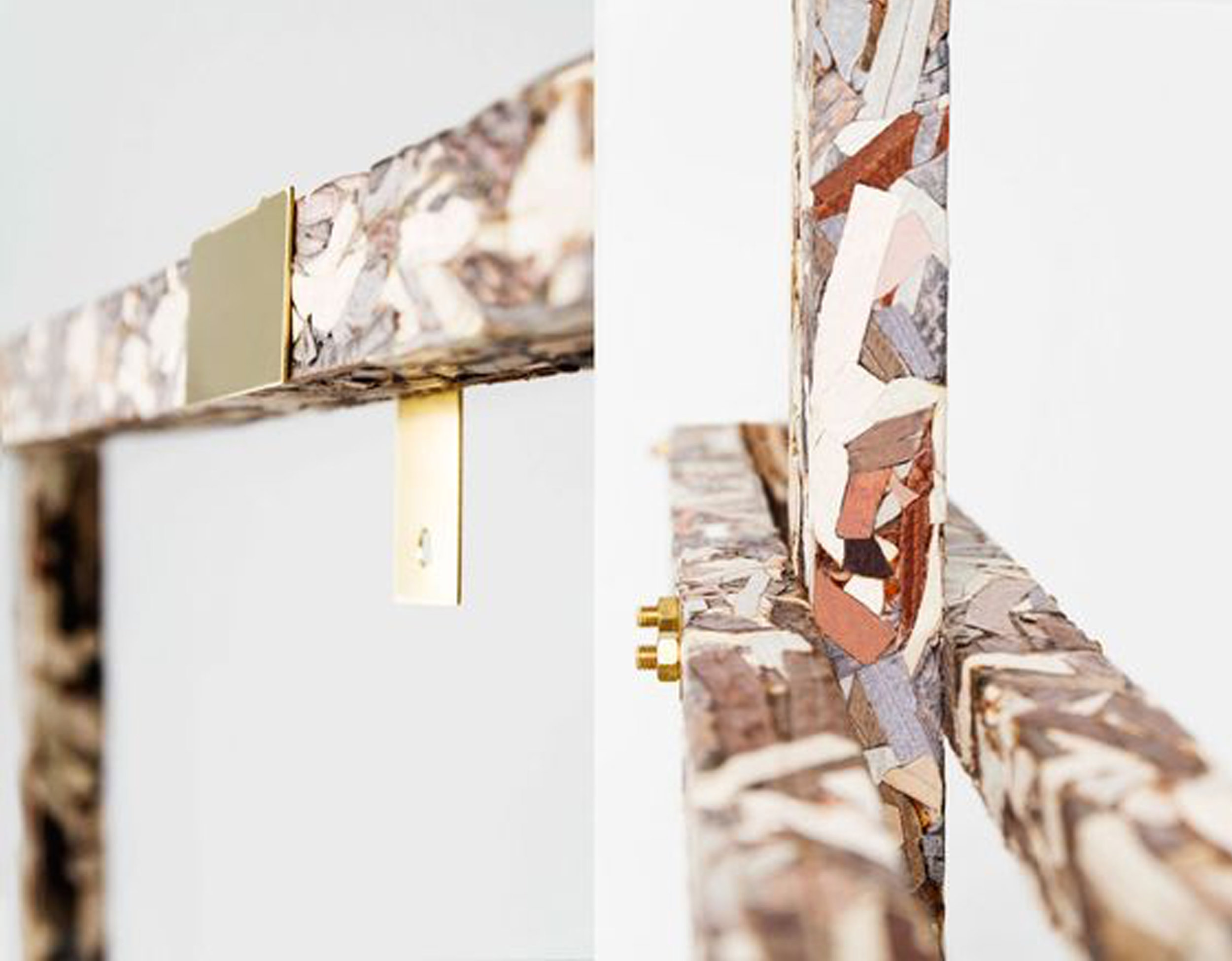 discarded leather Sturctural Skin by Jorge Penadés via  Design Milk