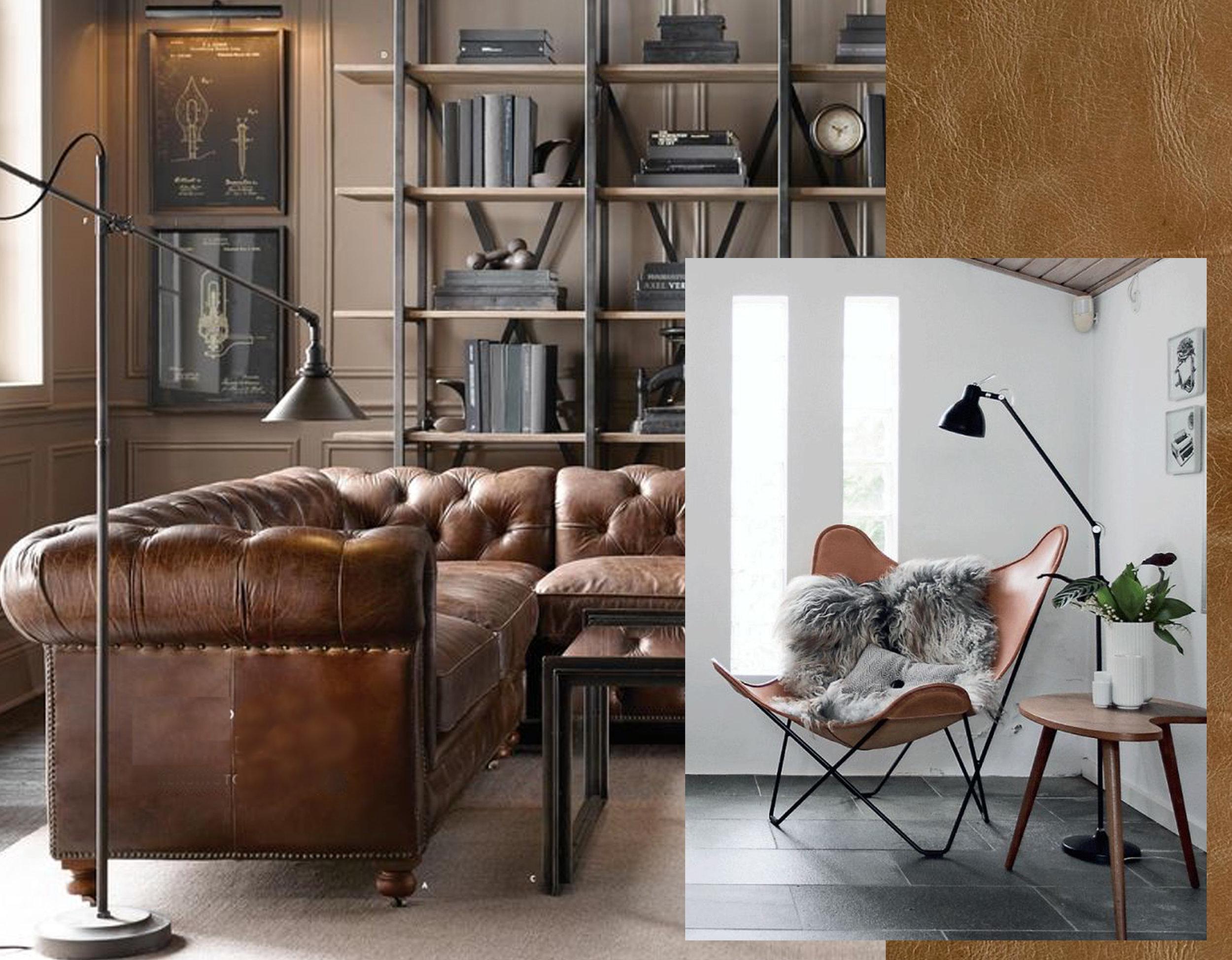 sofa  Restoration Hardware  - image Butterfly Chair via  Meubles la Fabrica