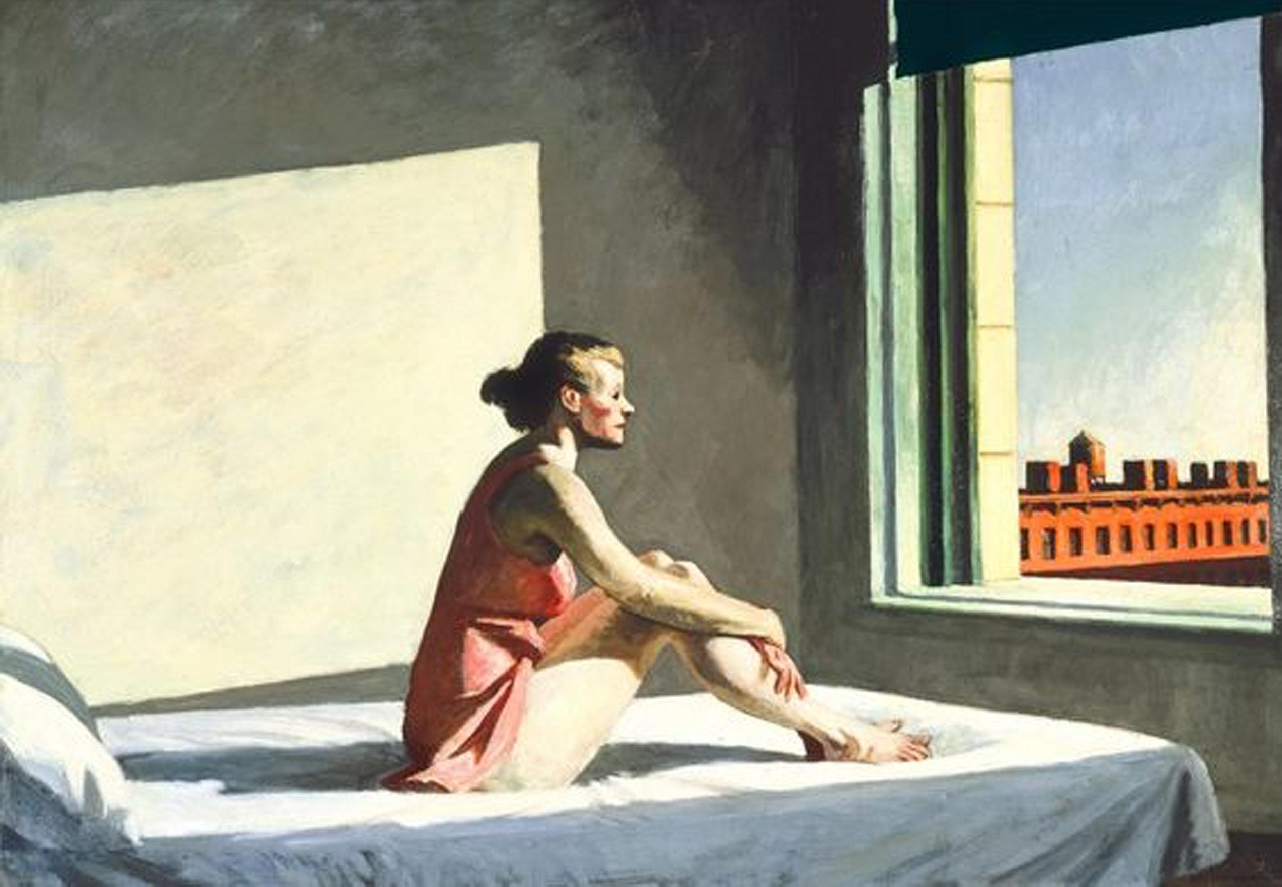 Morning Sun 1952 - painting Edward Hopper