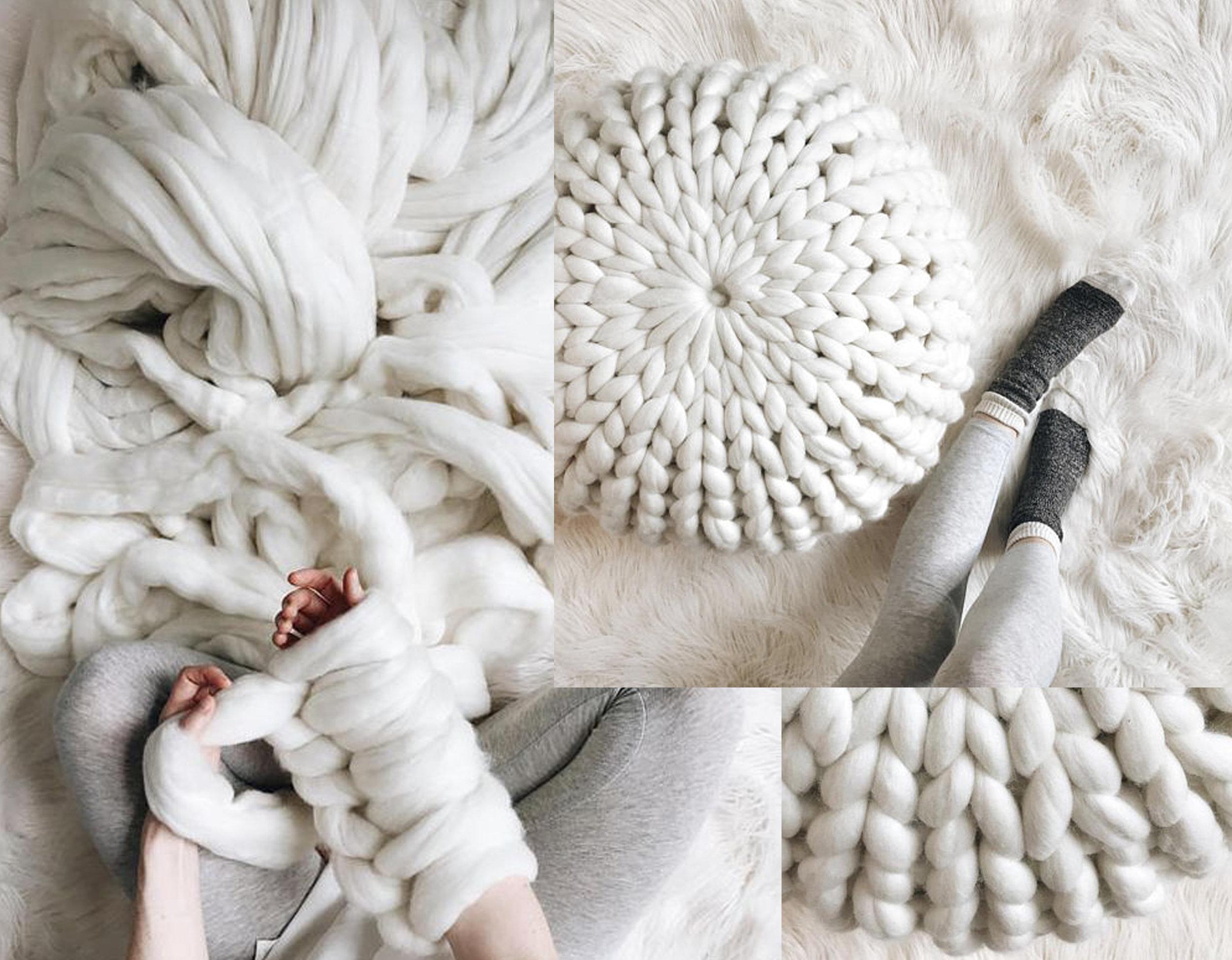 DIY kit - extreme knit pouf  De Brosse NYC