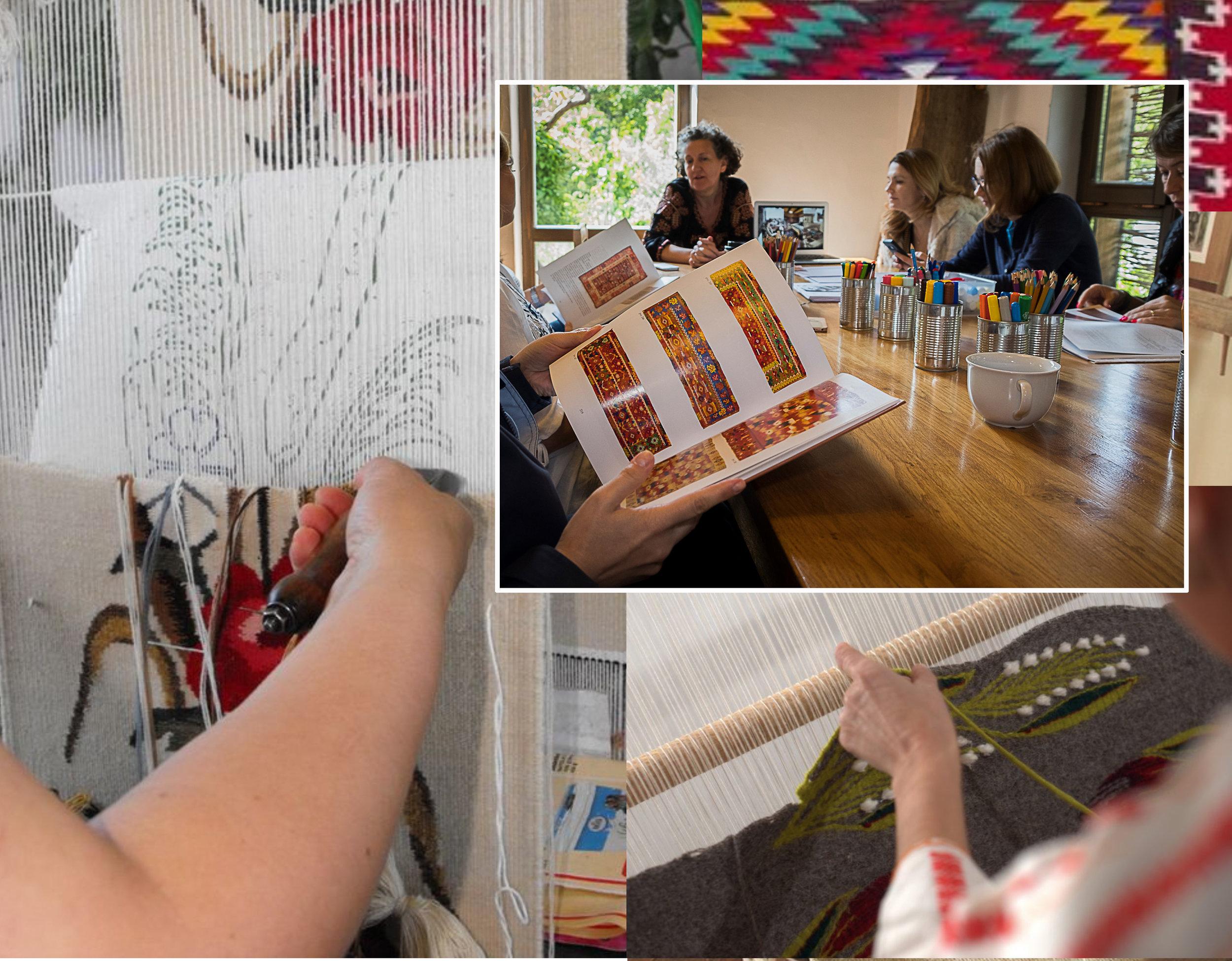 weaving rug Radauti via  Sporulcasei  - weaving rugs from Oltenia via  Denisa Bârgãu