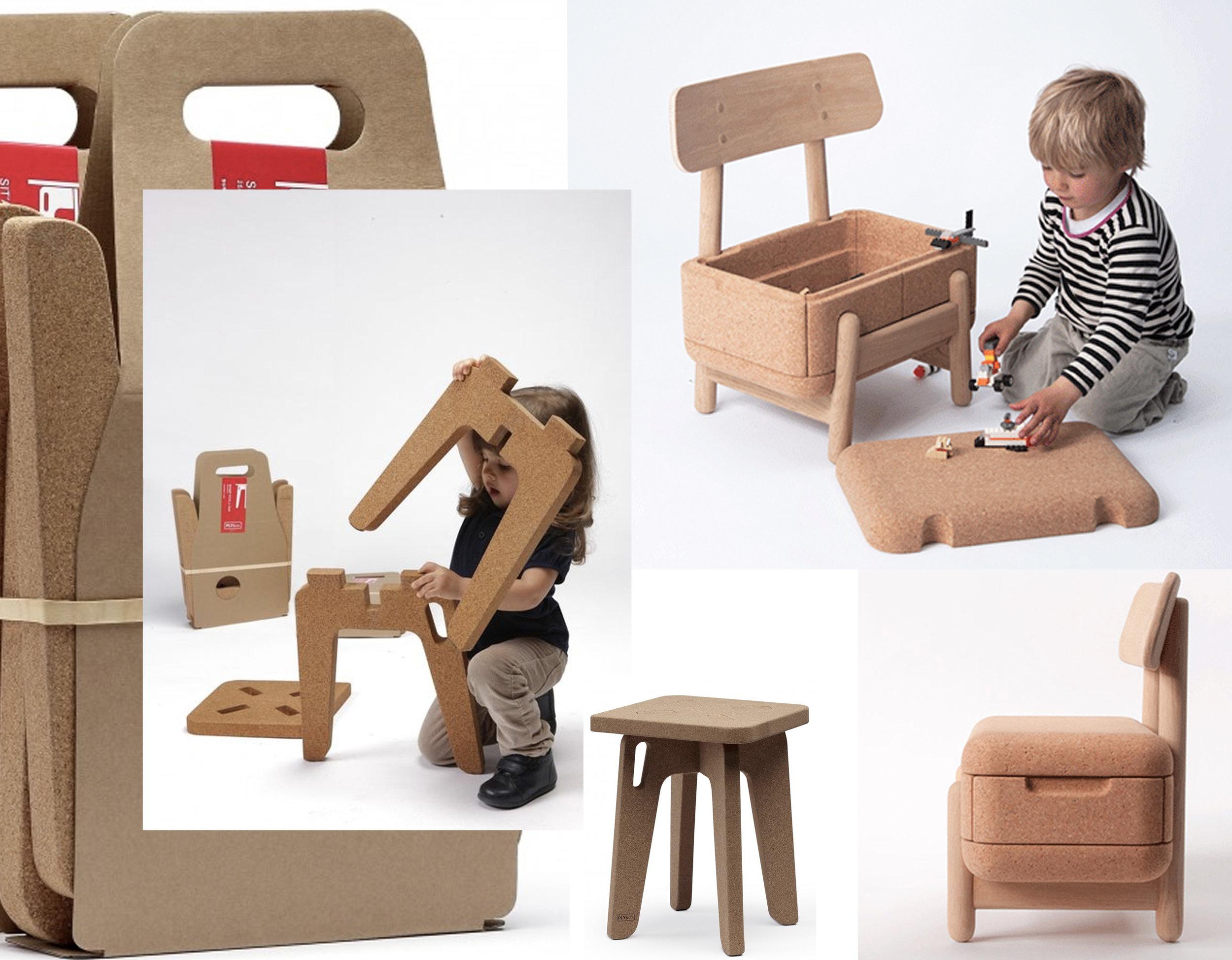 Sit'Abit stool  Ply & Co  - Oak Oak  Morten Husum