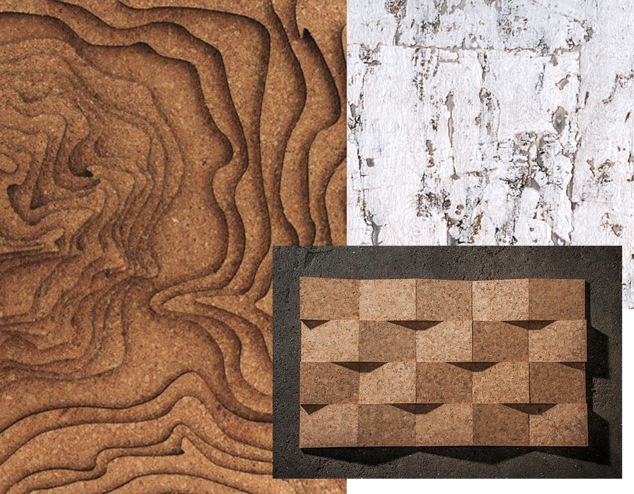 cork lasercut  Engravers Network  - wallpaper Eclat  Elitis  - cork 3dimensional  Amorim