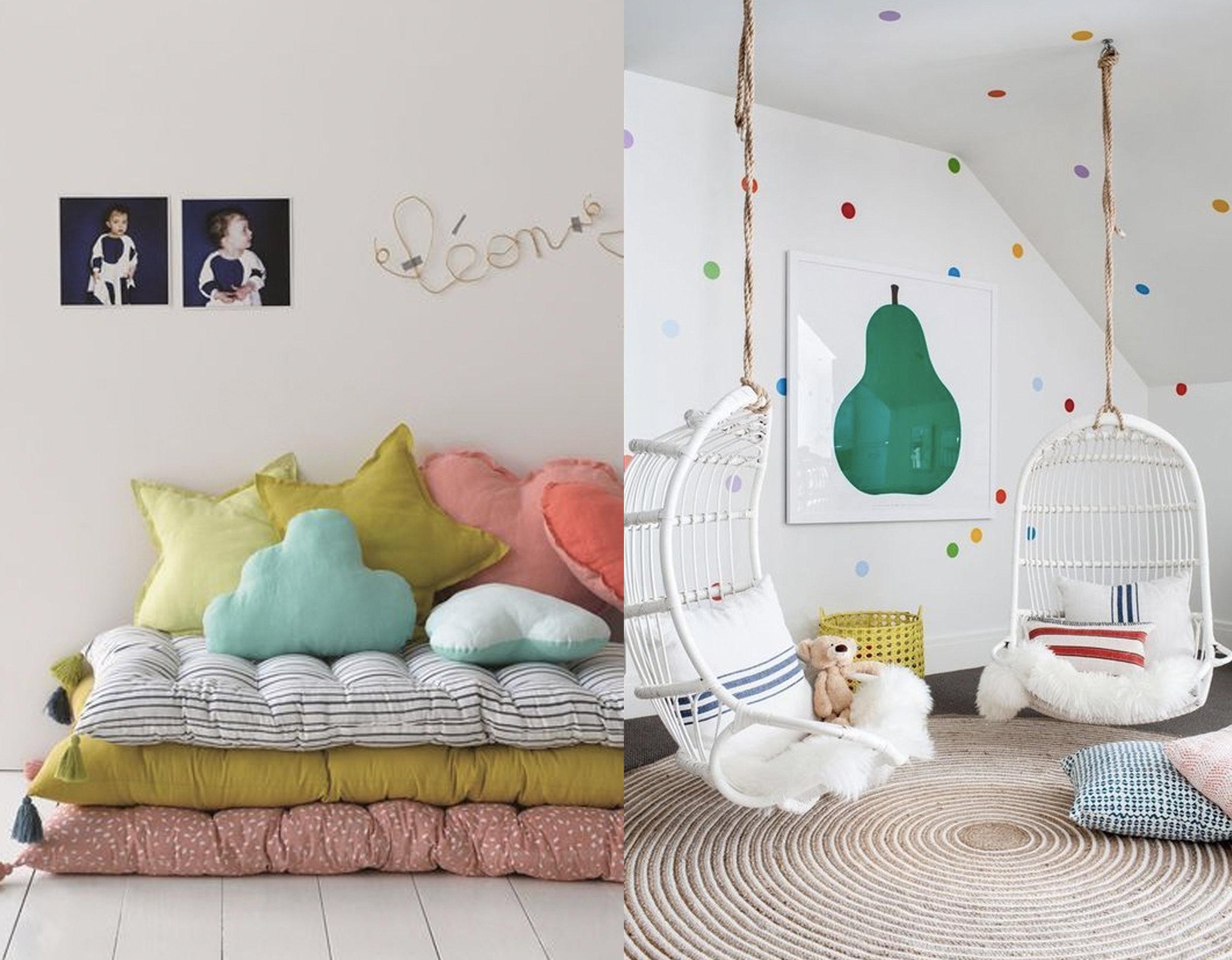 pile of mattresses via  Exclusive Bedlinen  - reading corner via  Interior Design Up