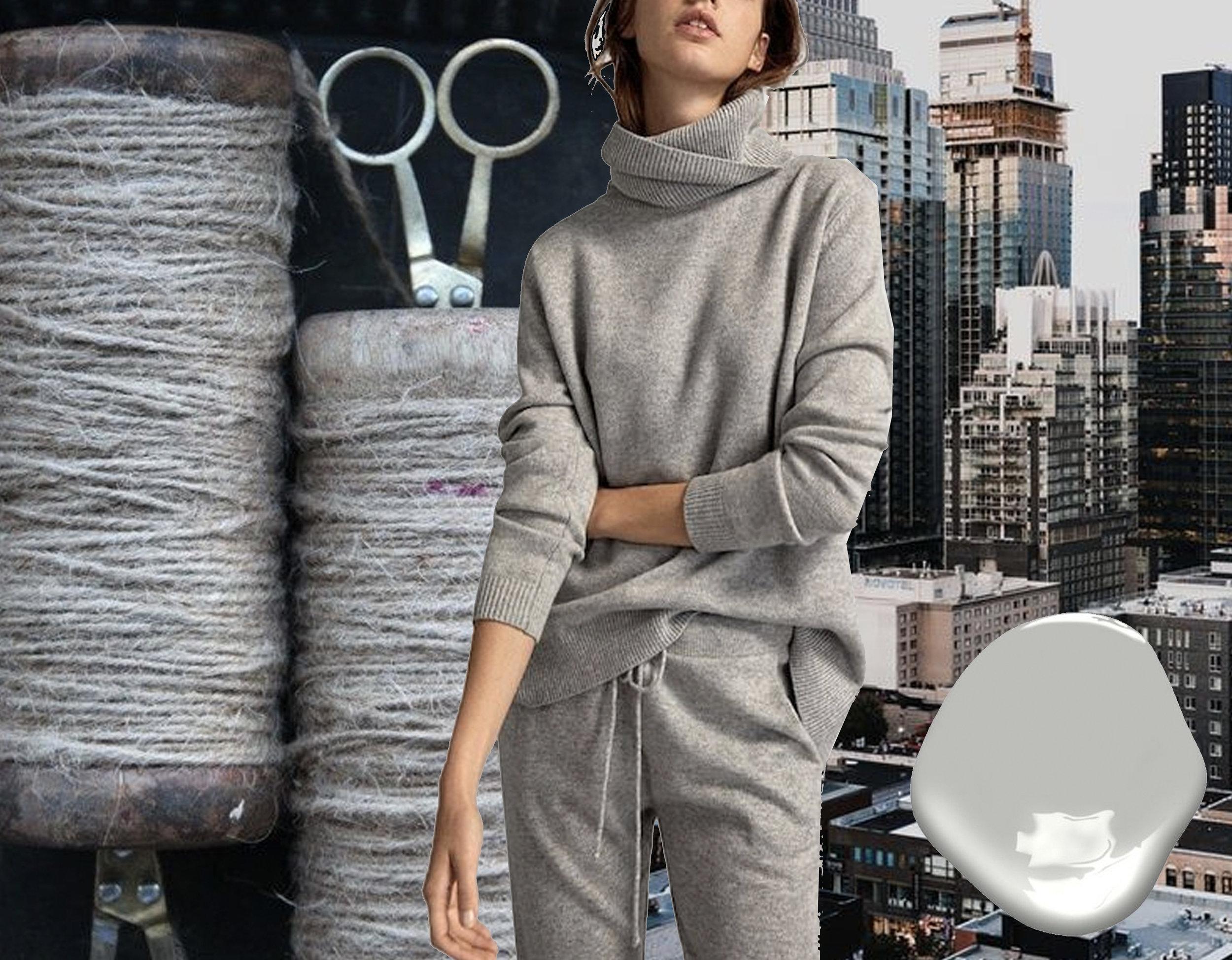 yarns via  Lifes good more often than not  - pullover Massimo Dutti via  Zalando  - city view via  Unsplash