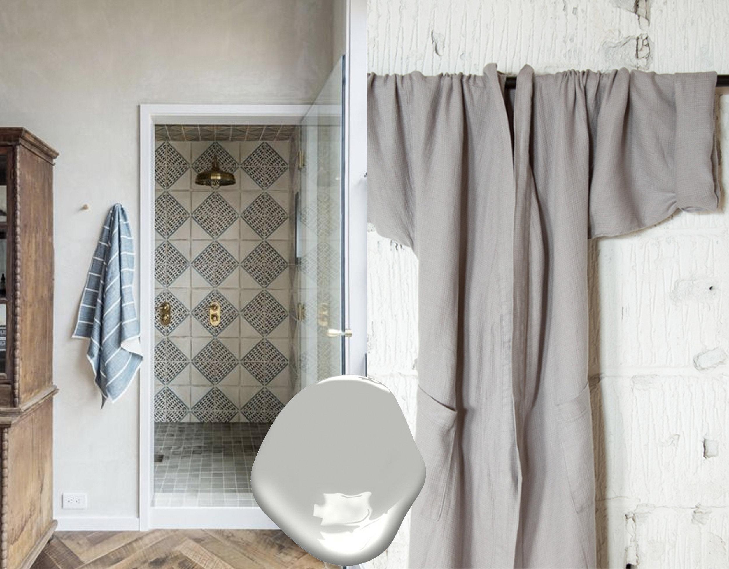 bathroom via  That Kind of Woman  - bathrobe  Decopur