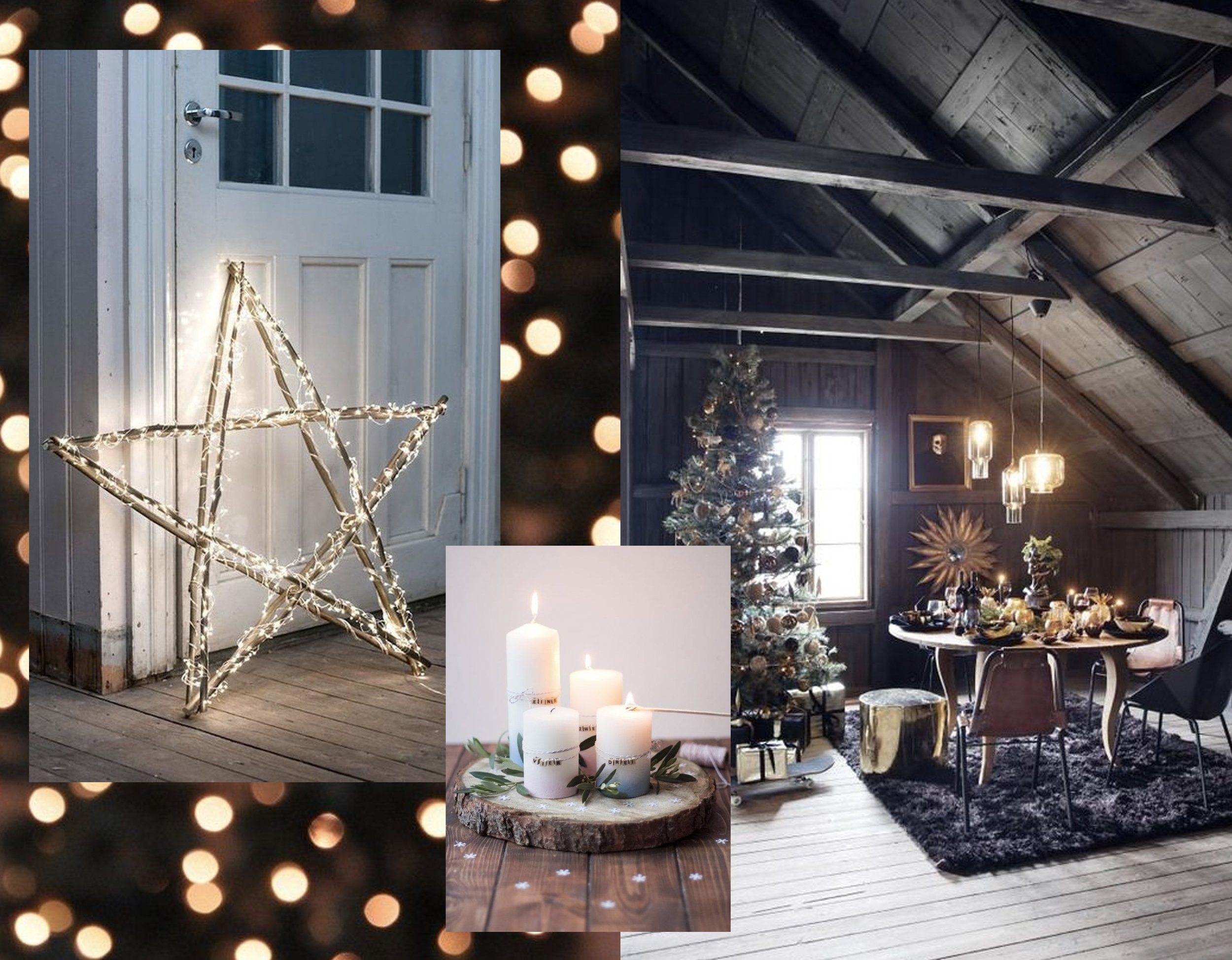 twinkling Christmas star vis  Brit + Co  - attic via  Turbulences Deco