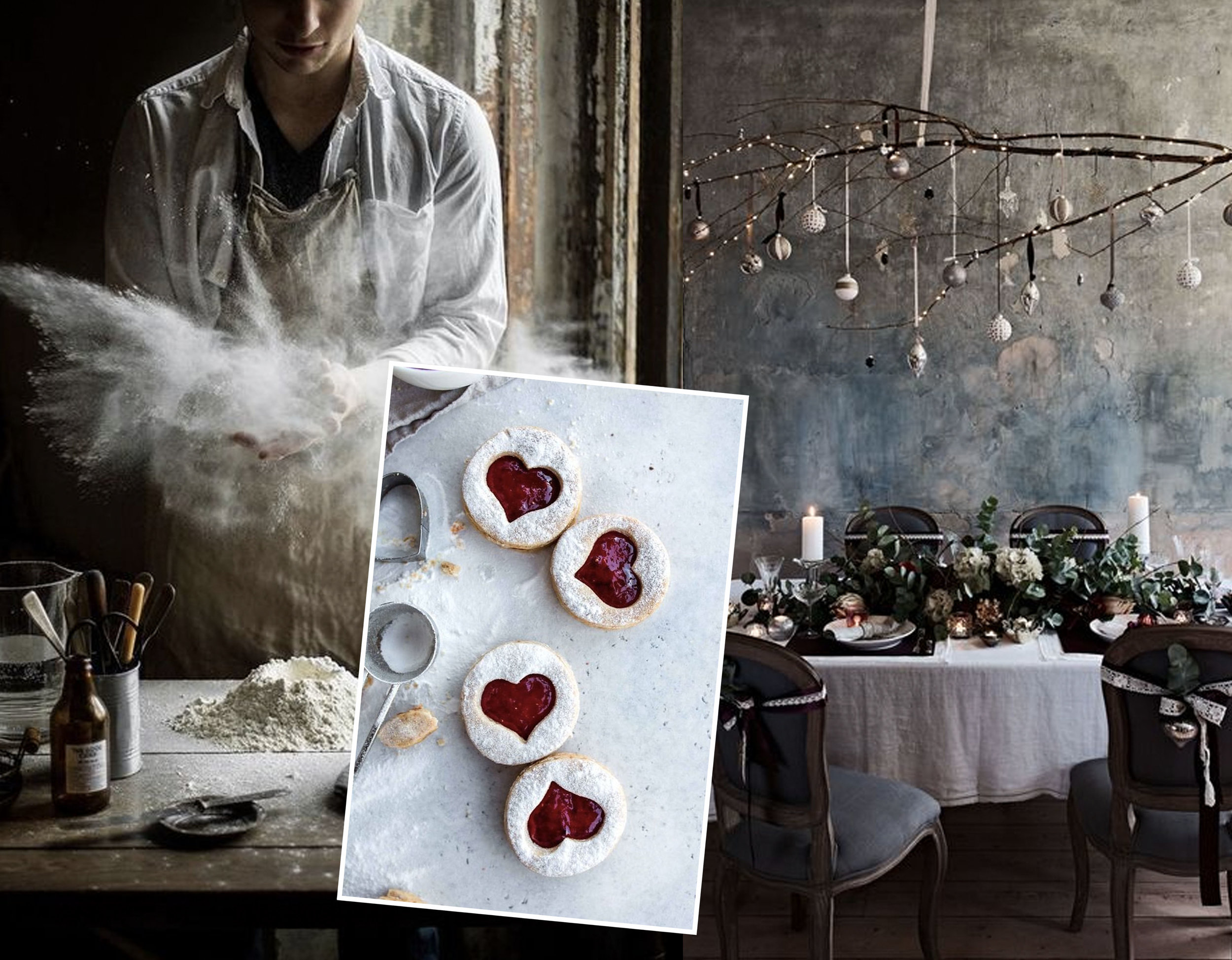 preparing the dinner via  Instagram  - cookiies  Vanilla Crunnch  - dining room via  House Beautiful