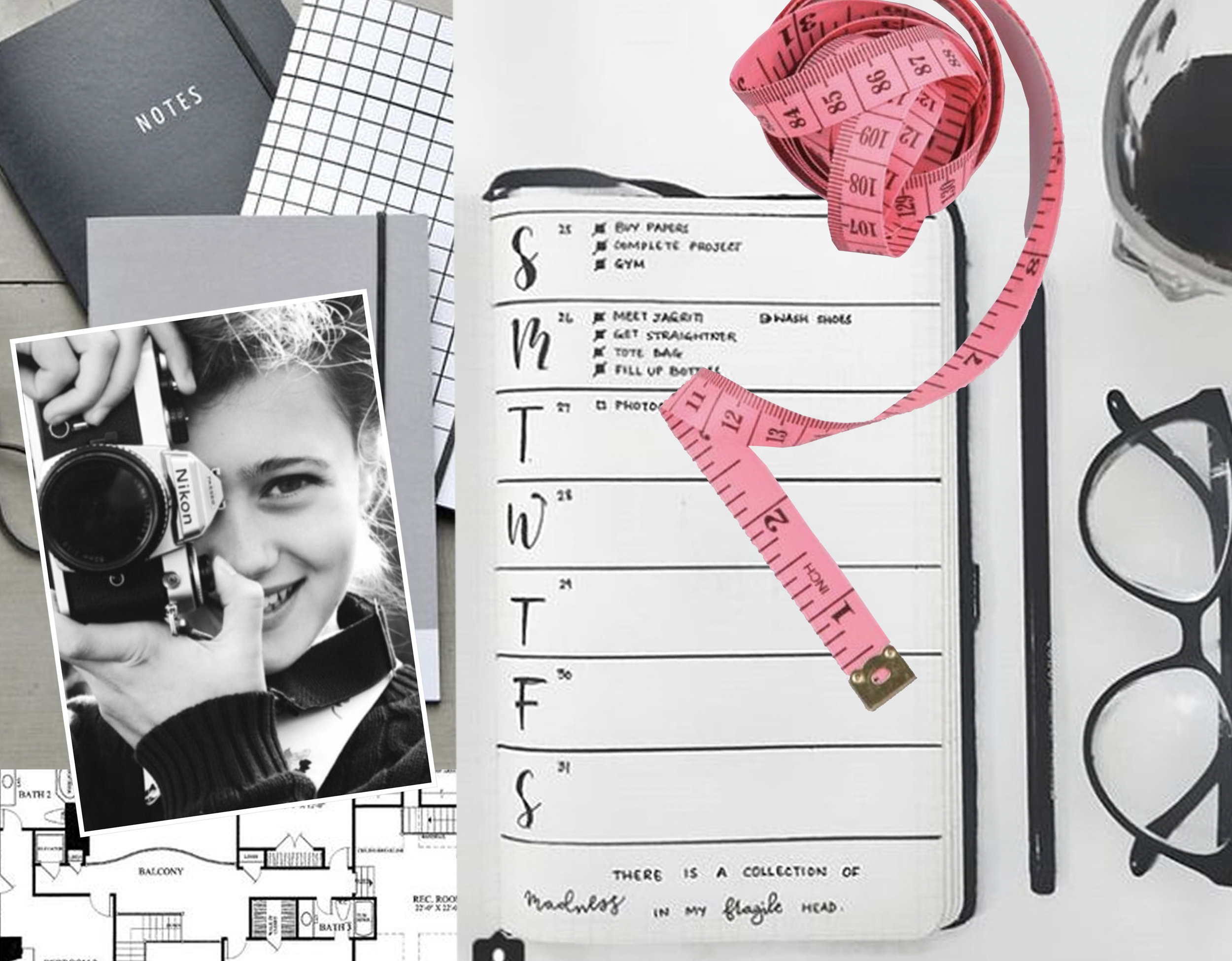 notebooks  Pasinga  - girl with camera via  Tumblr  - journal via  Jihi Elephant