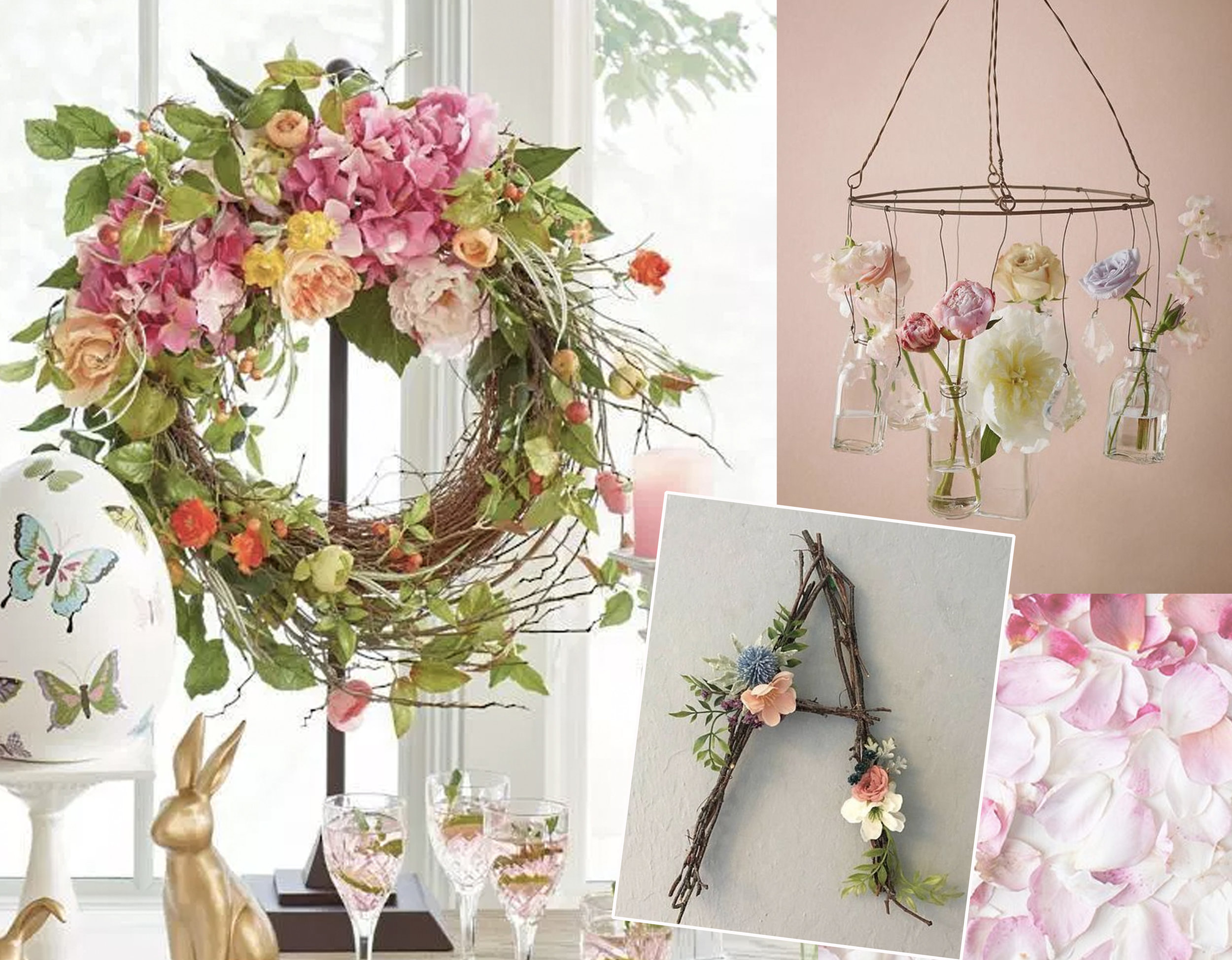 Easter wreath via  La Casa de Freja  - letter A decoration  Do Good Decor