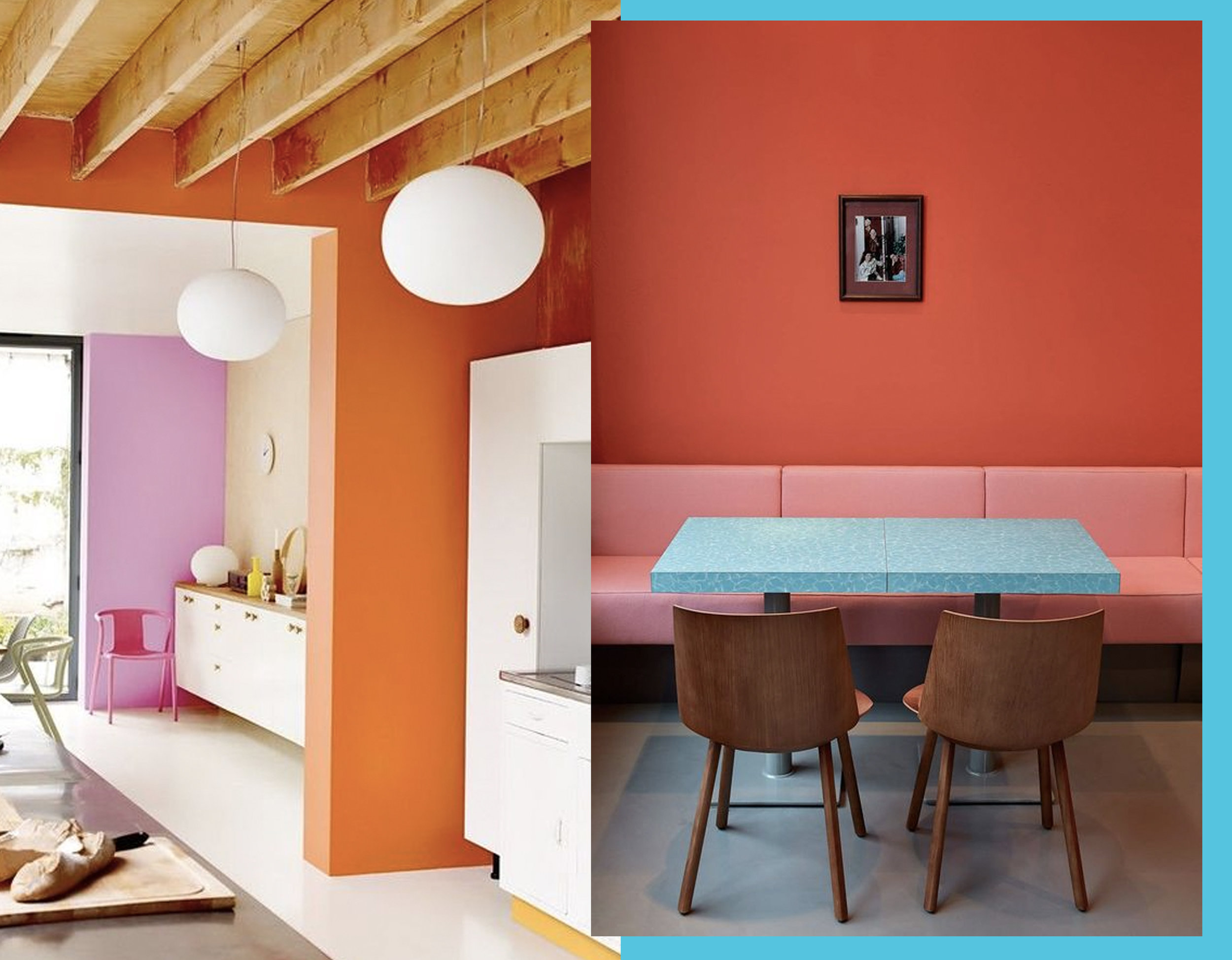 kitchen image via  My Domaine  - dining area inspiration via  Trendland