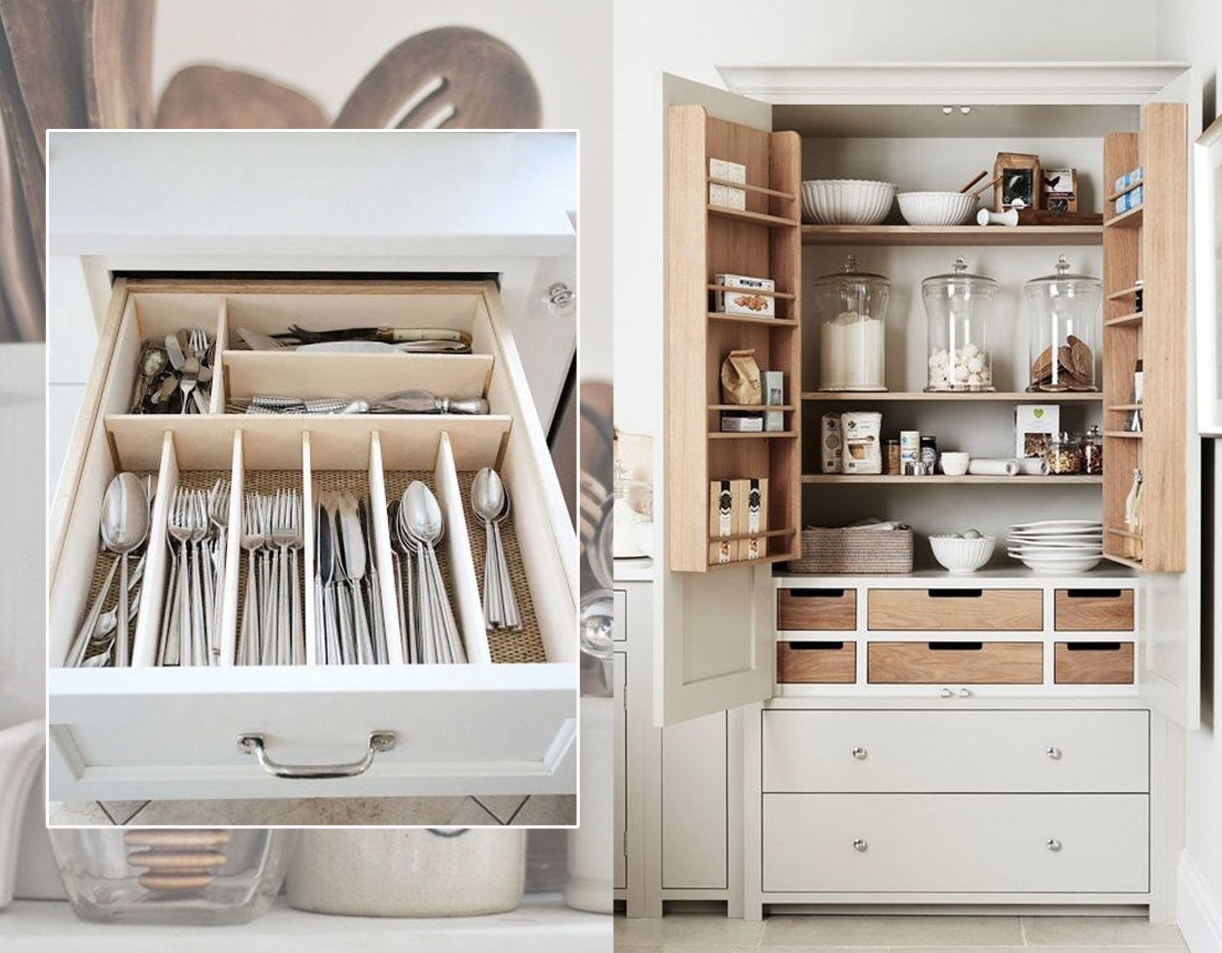 organized drawer via  Pure Wow  - pantry via