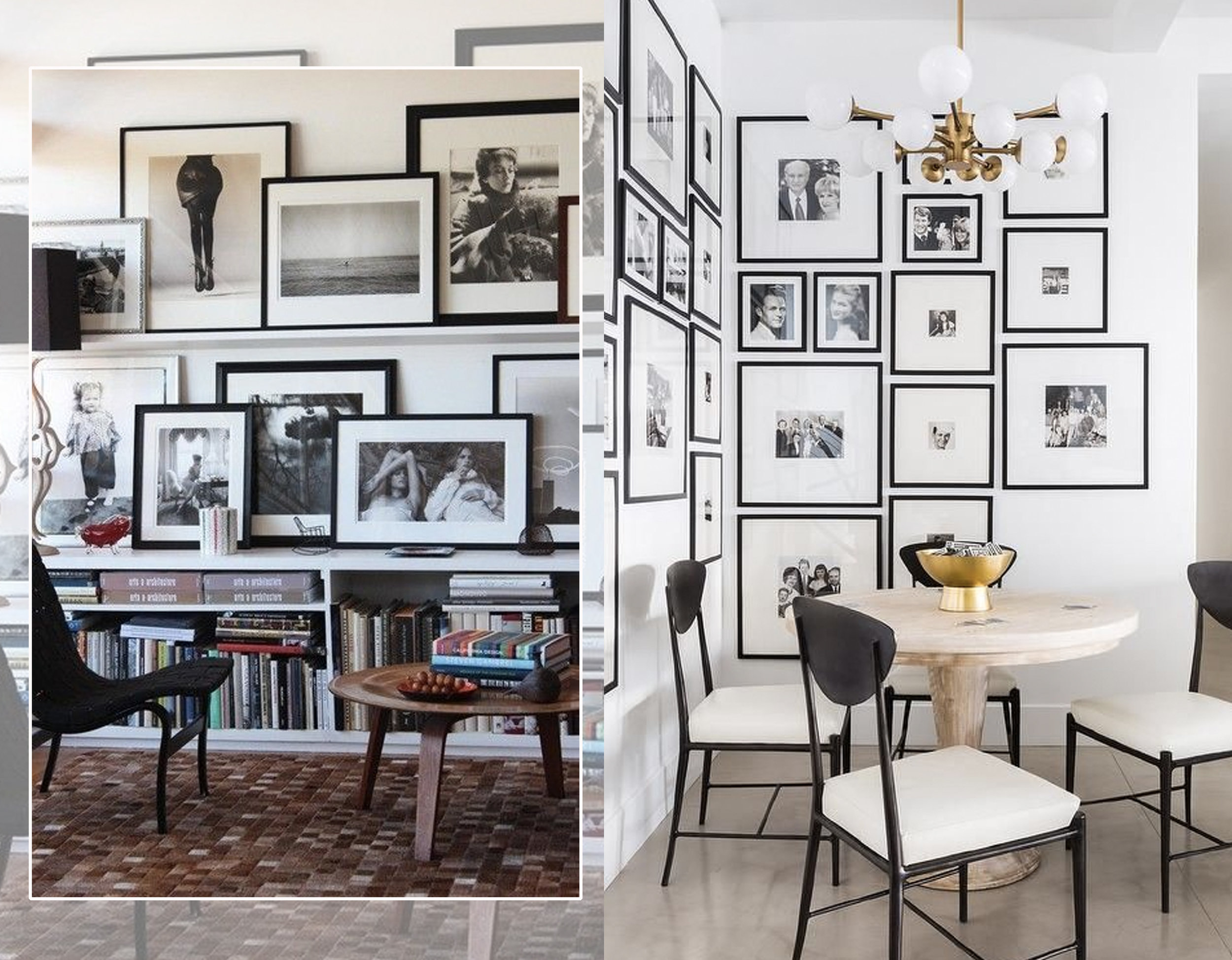 picture walls via  Pinterest