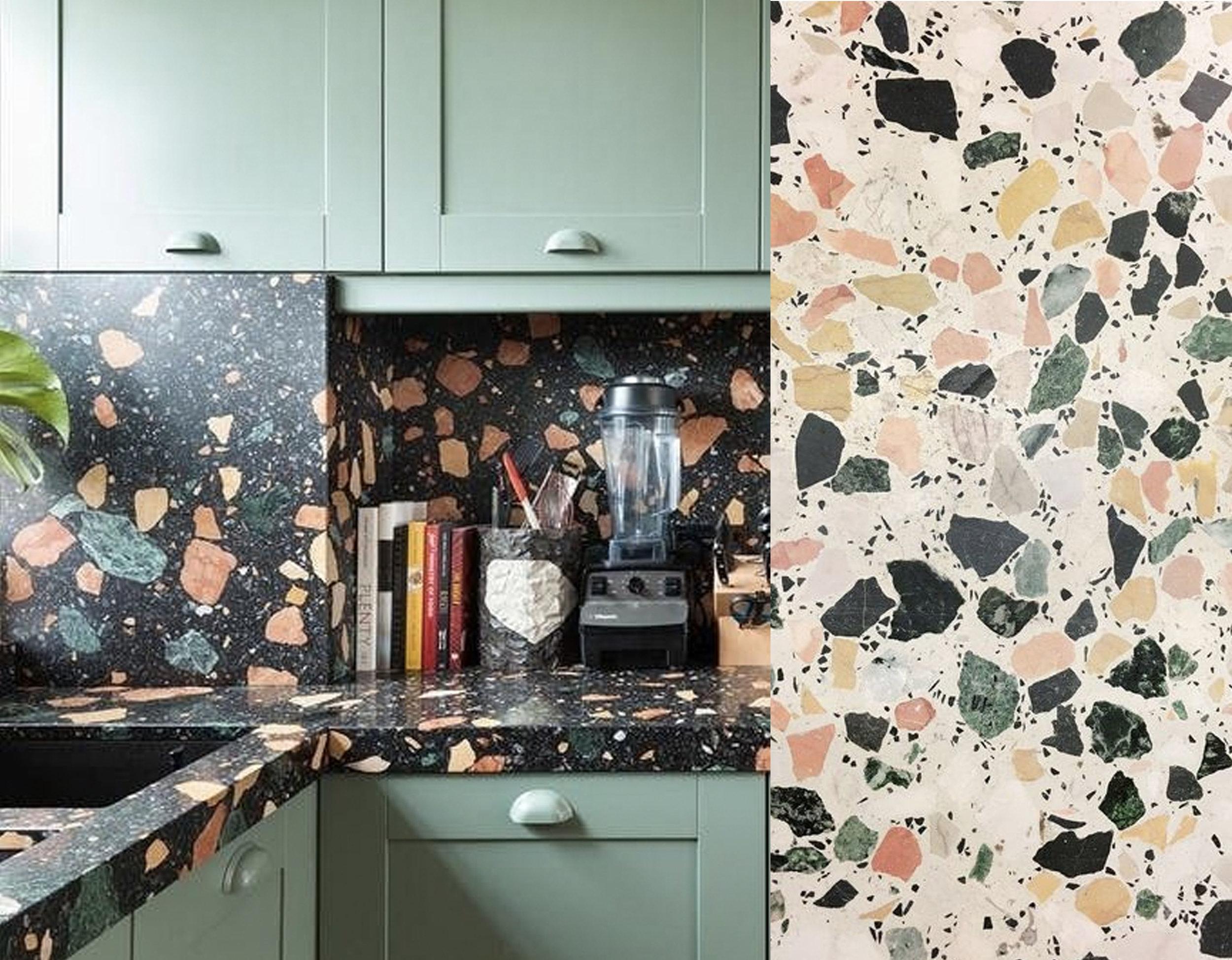 kitchen via  Apartment Therapy  - terrazzo via  Instagram