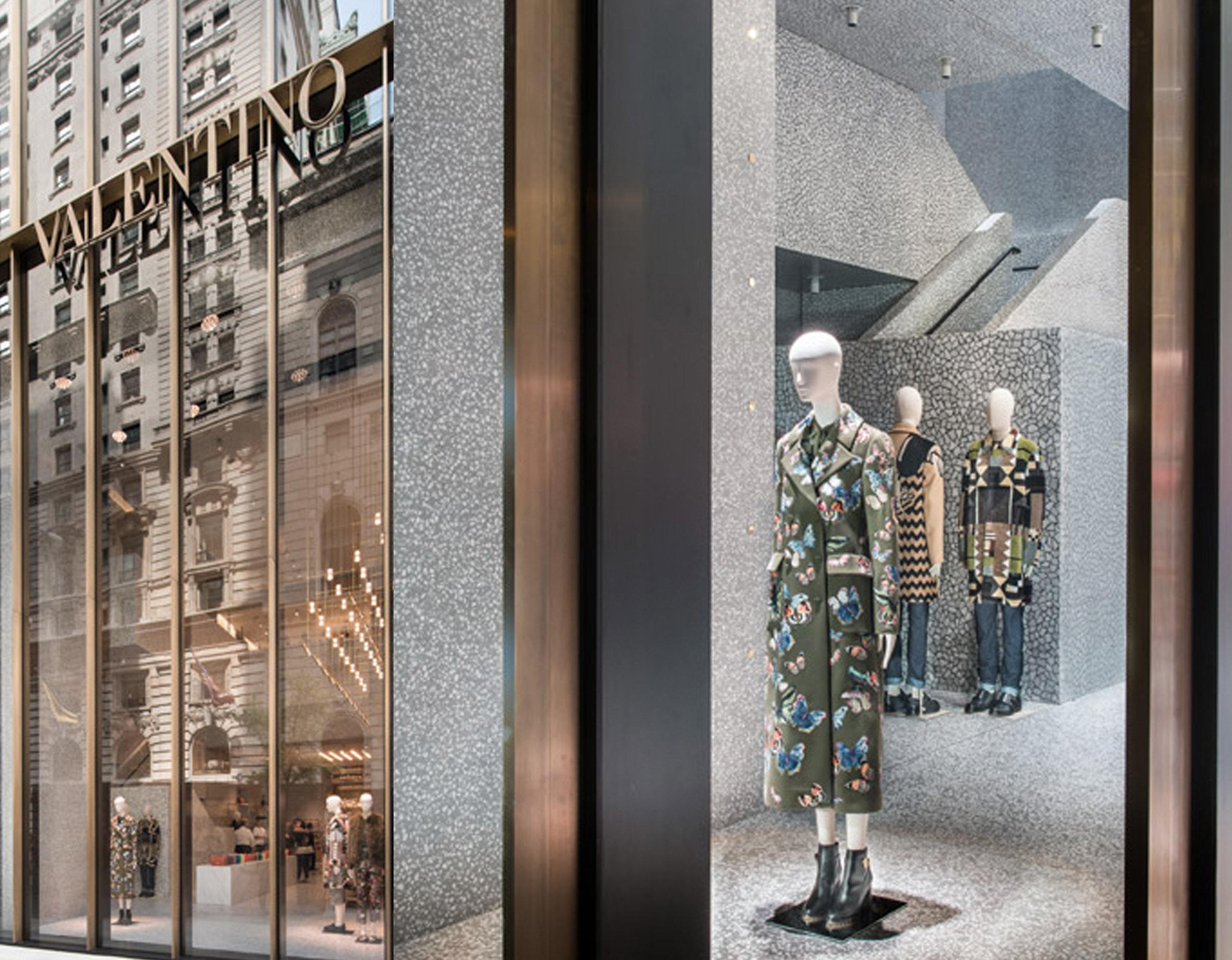David Chipperfield's Valentino flagship store in NY via  Dezeen
