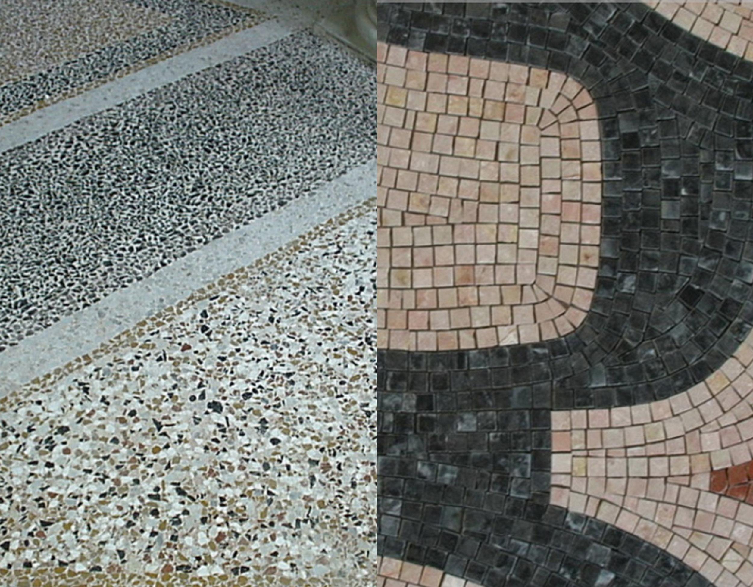 terrazzo versus mosaic via  Morseletto
