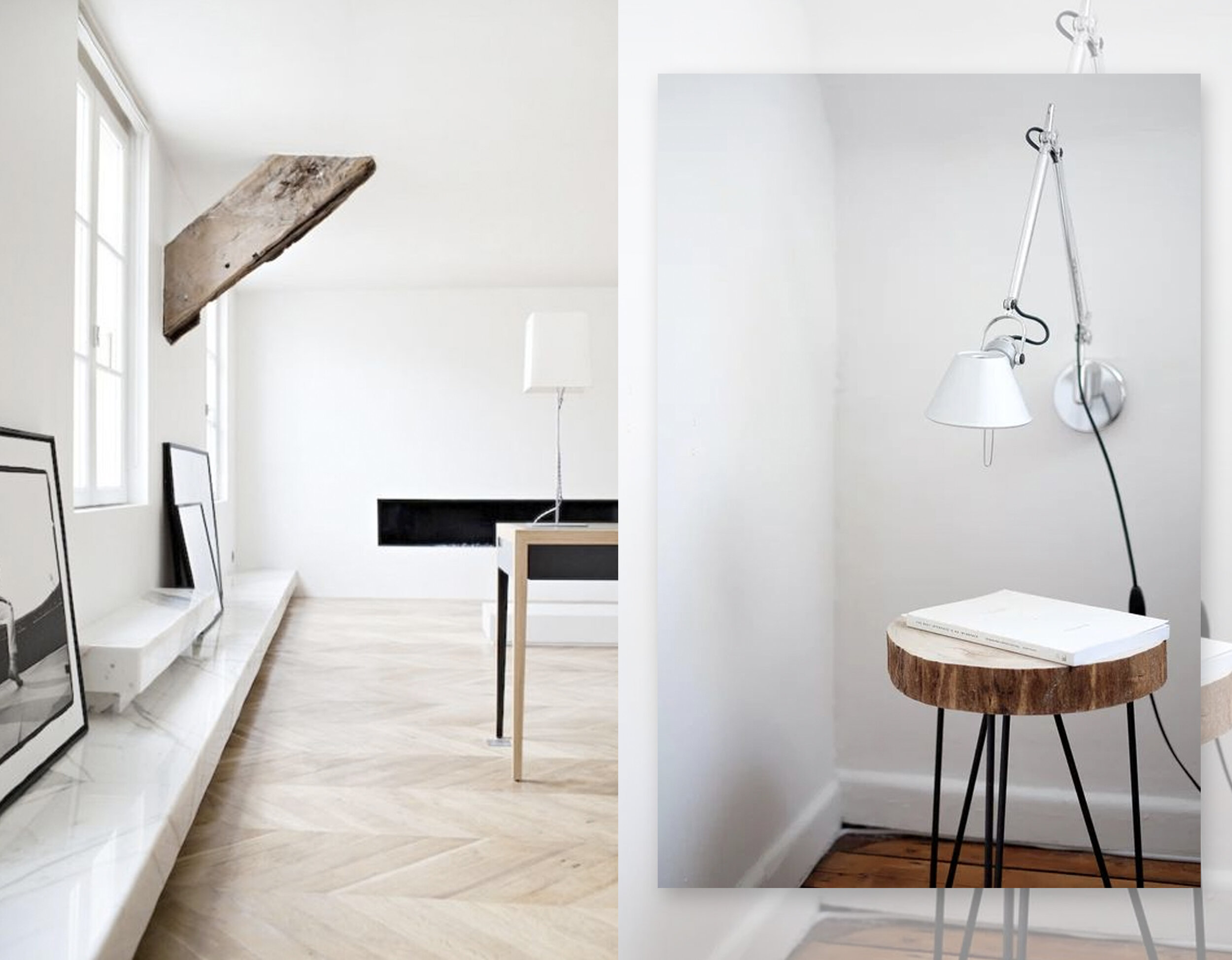 interior via  Looks Like White  - image with small table Atilla Taskiran via  Unsplash