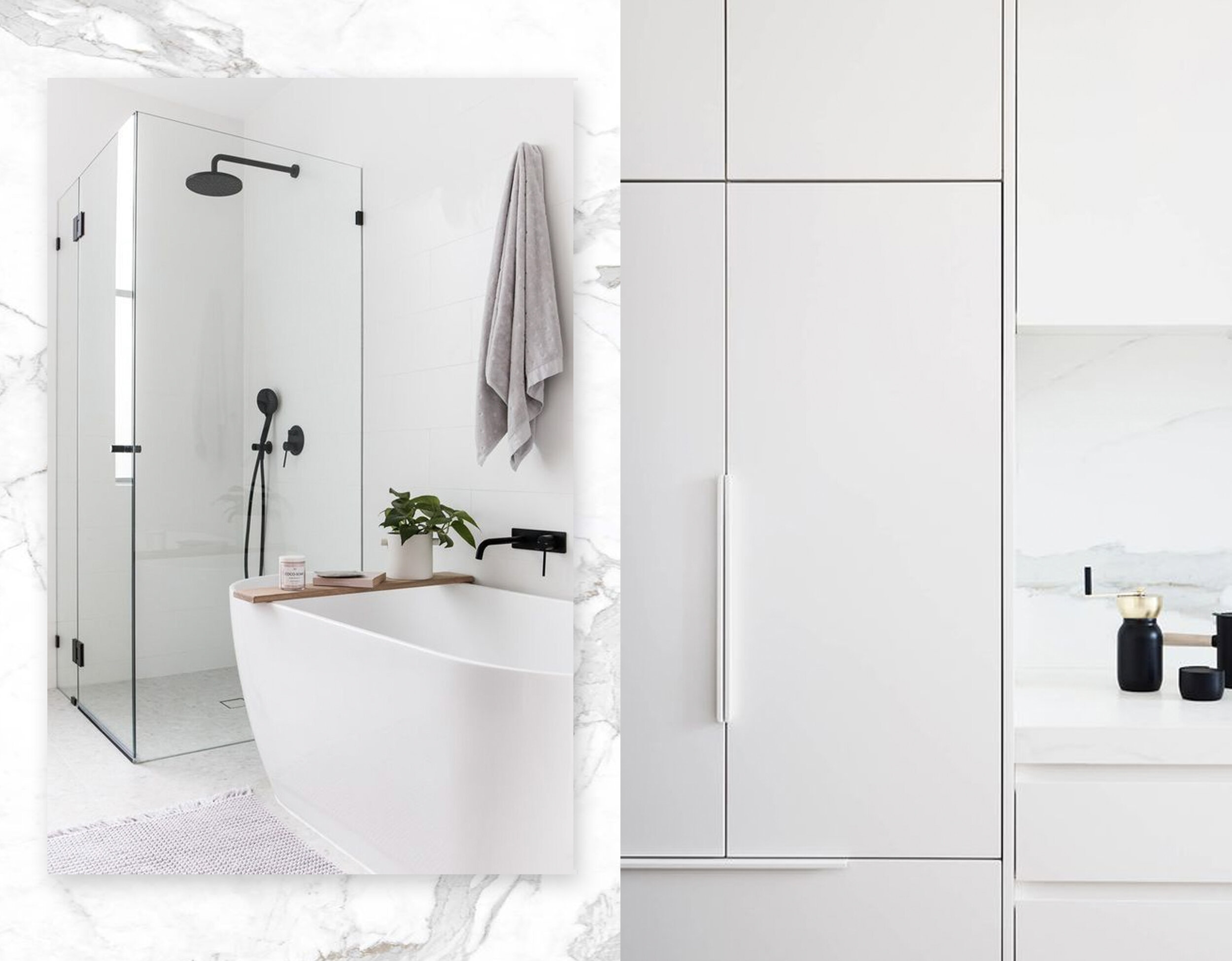 calacatta marble via  Architonic  - bathroom - kitchen via  Est Living