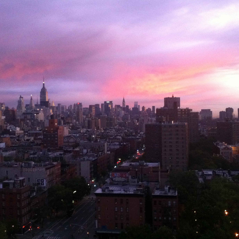 Sunrise on day one of Williamson Adams