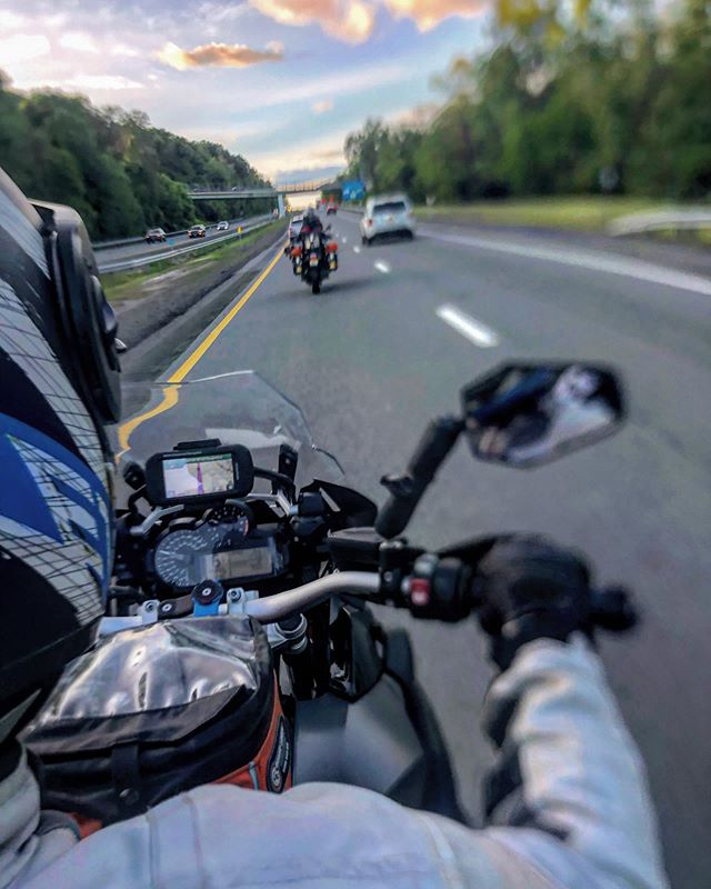 Another great shot by @mlev44 - you can see @aldog19 and @melanielevy ahead of us.  One of the many advantages of having your wife as co-pilot. Awesome photos along the way. Other advantages are yelping for lunch spots, calling ahead for activities, and handing me the water tube, all while riding! Co-Pilot of the year!