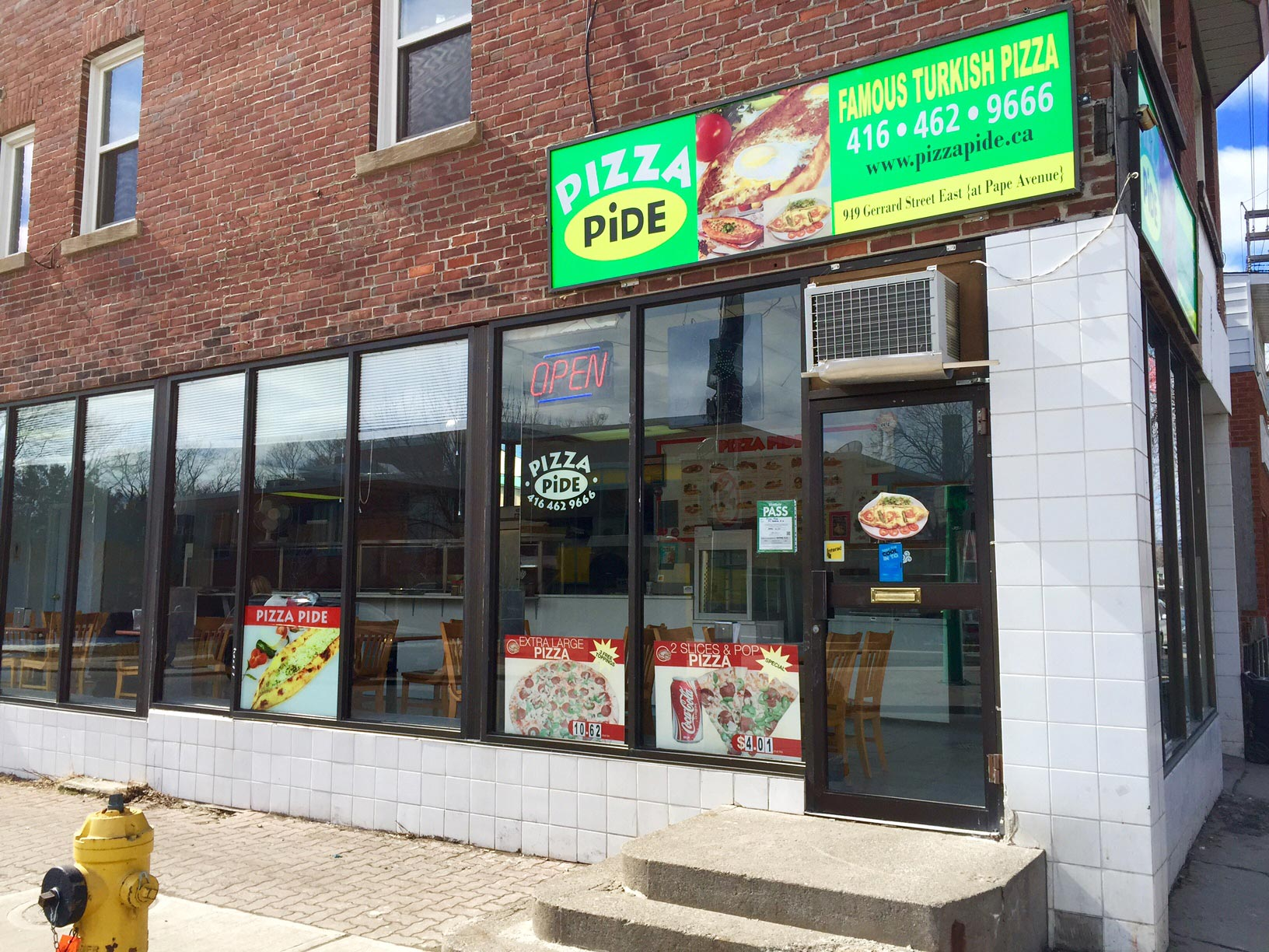 On Gerrard, just east of Pape, Pizza Pide is  the  no-nonsense spot for Turkish pizza. You clearly don't come here for the ambiance, after all.