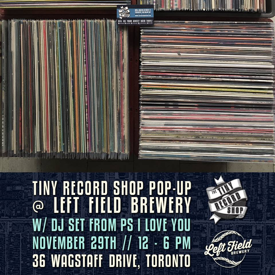 Tiny Record Shop pop-up Left Field Brewery