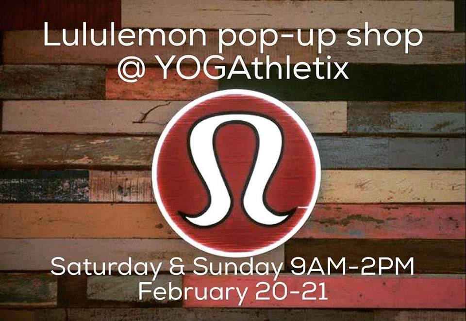 Yogathletix Lululemon pop-up