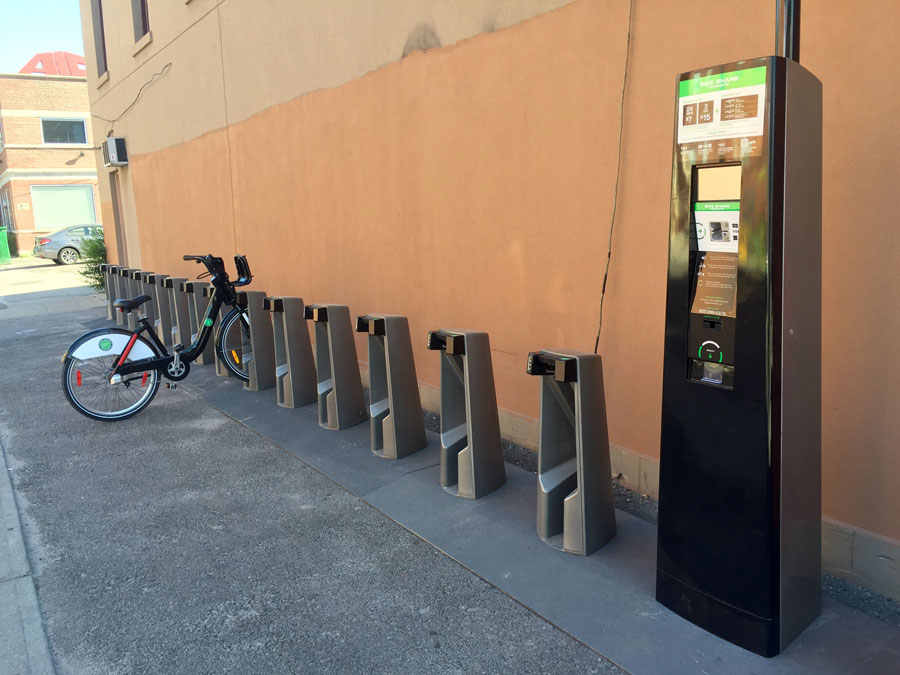 New station at Queen and Logan.  Photo:  Dean Seguin