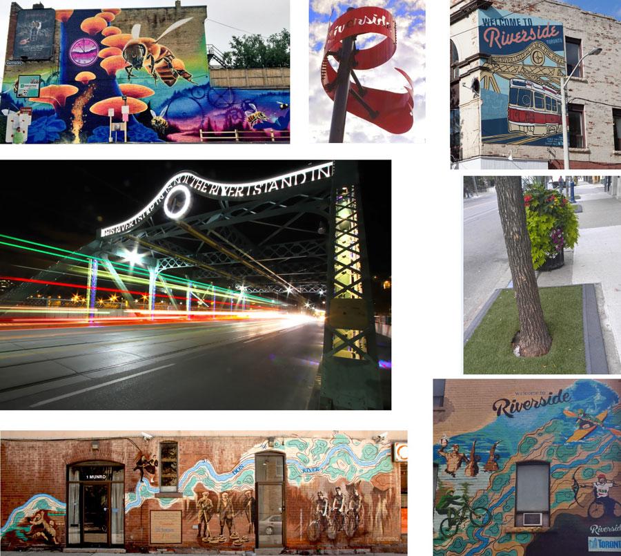 Photo collage:  Riverside BIA
