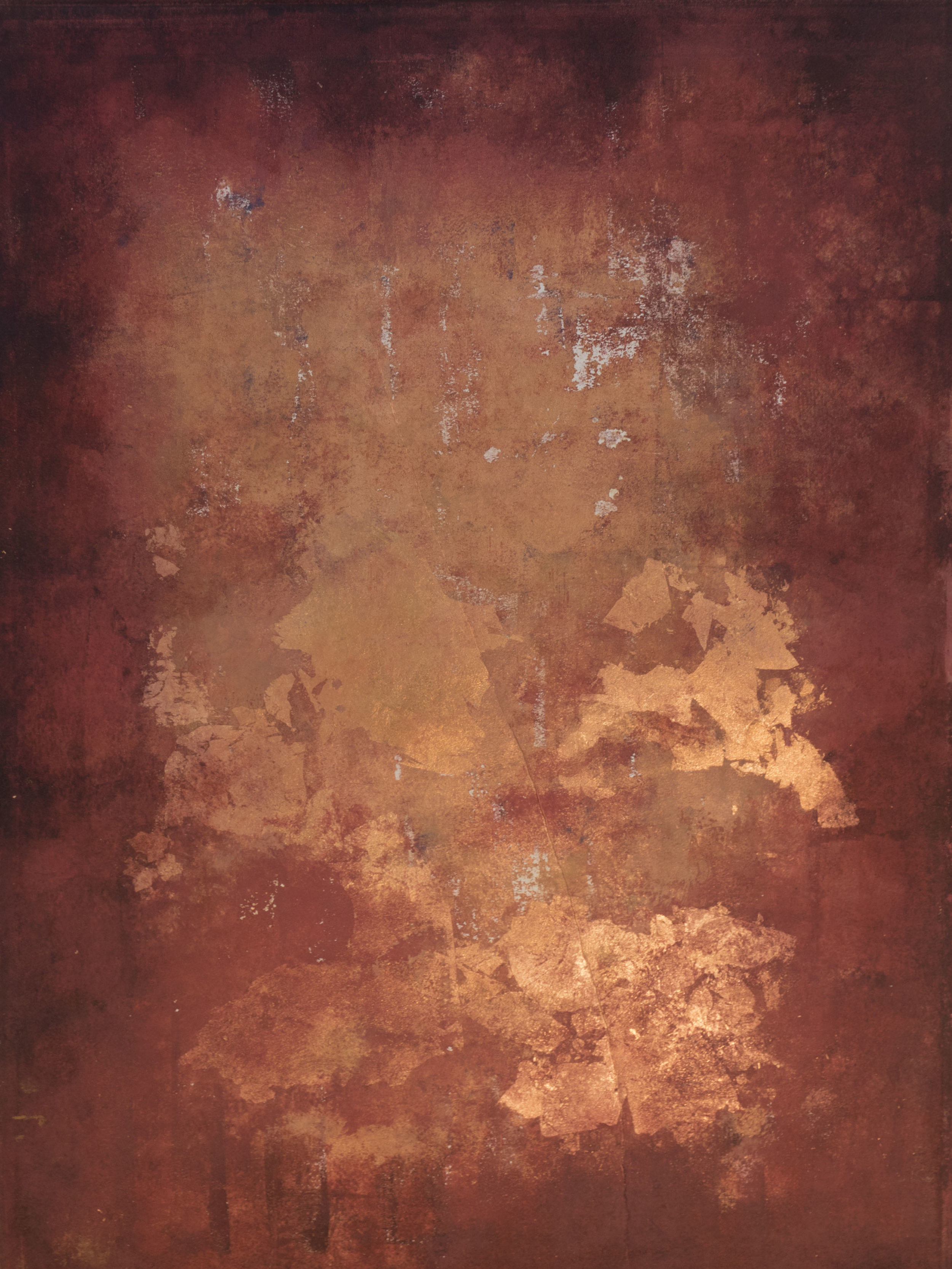 untitled. ink and copper leaf on BFK. 20x26. 2018
